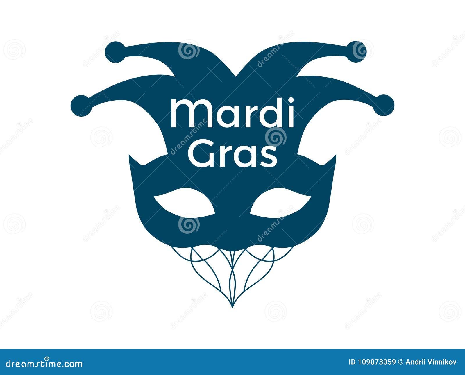 Mardi Gras Carnival Mask On A White Background Bells Festive