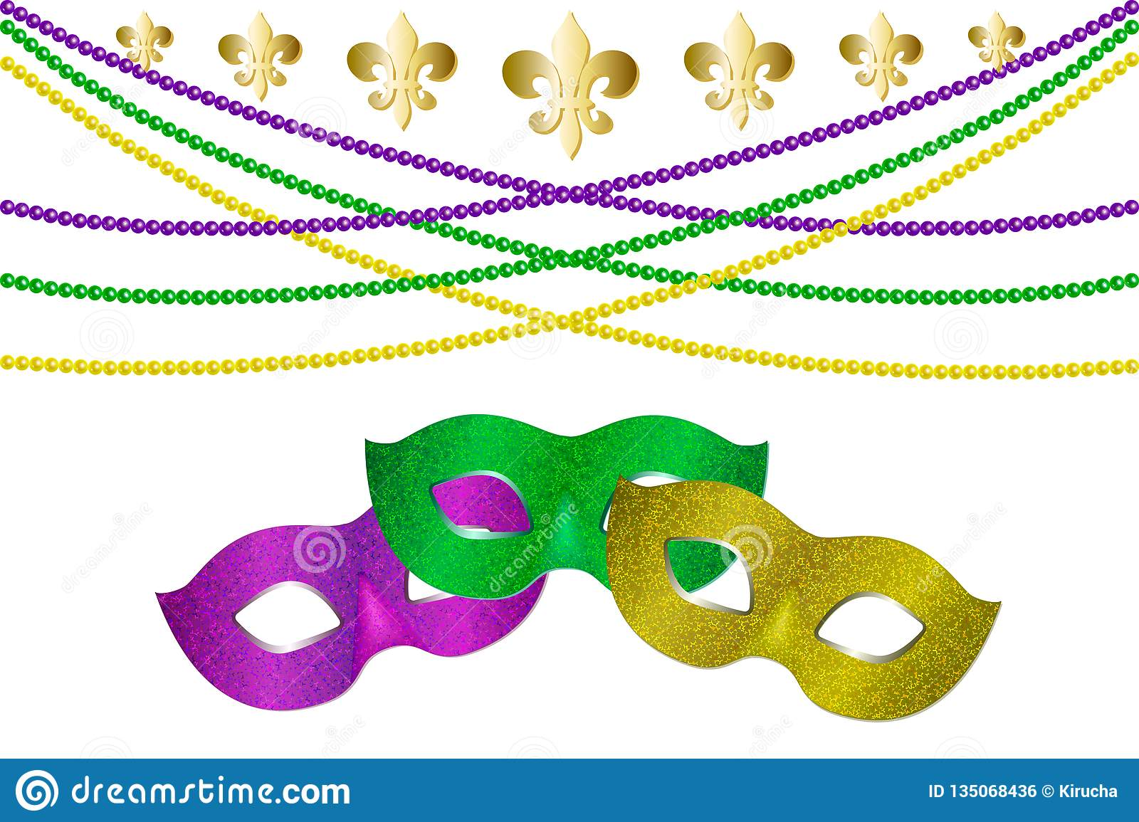 Mardi gras carnival party design