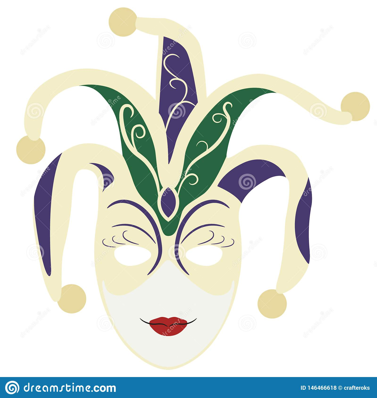 Mardi gras mask Hand drawn, Vector, Eps, Logo, Icon, crafteroks, silhouette Illustration for different uses