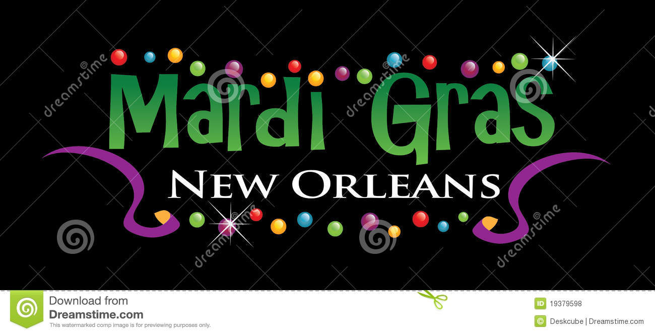 Mardi Gras Logo stock vector. Image of illustration ...