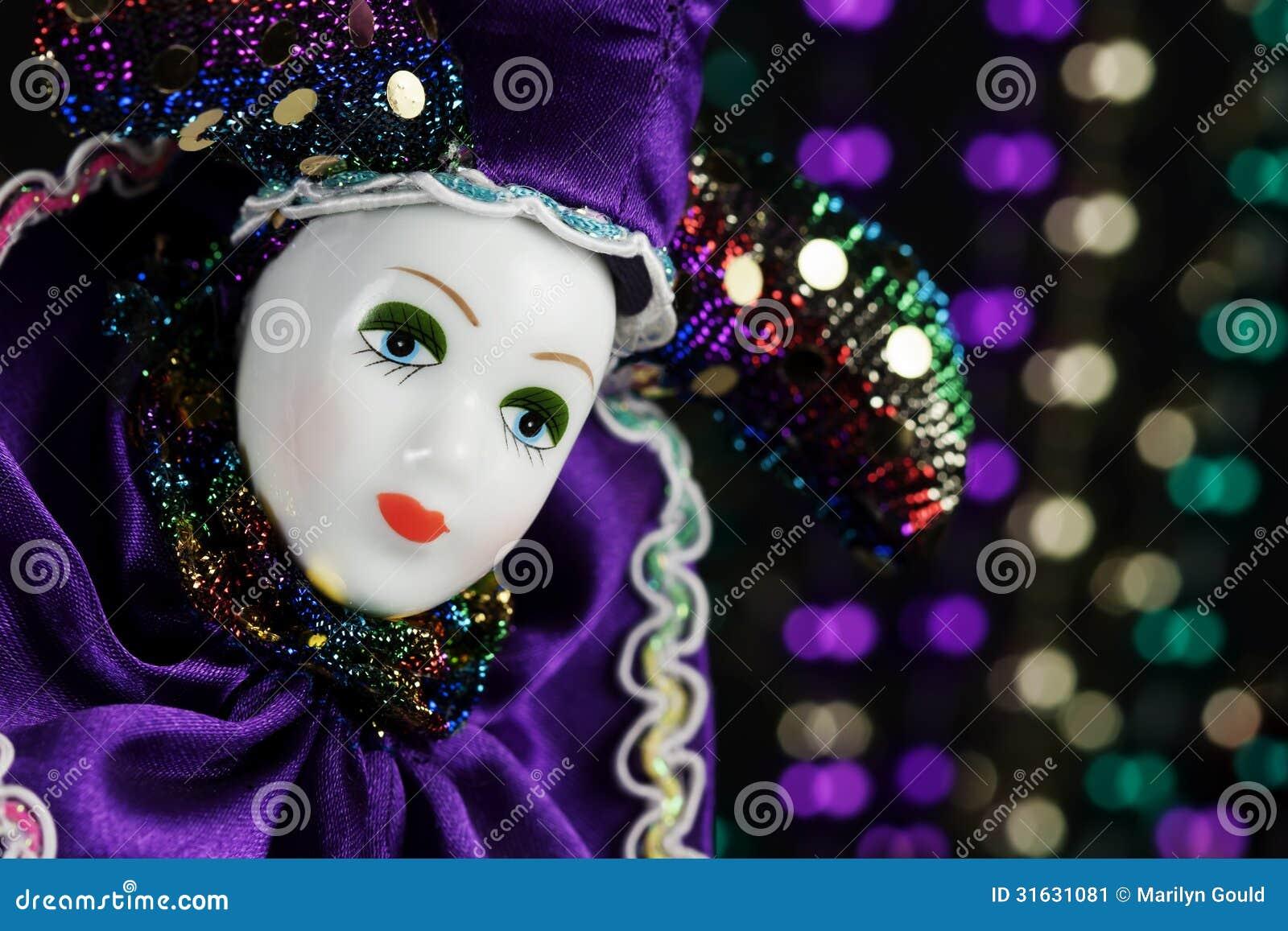 Mardi Gras Marionette Mask