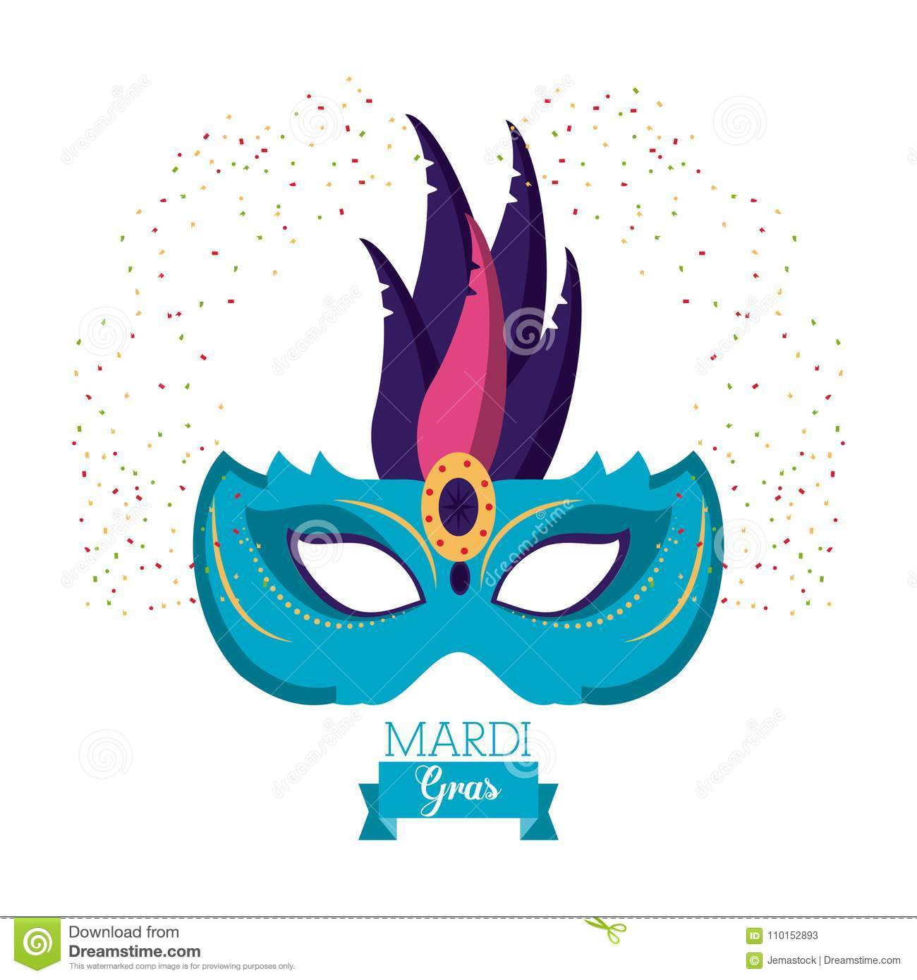 mardi gras mask stock vector illustration of draw original 110152893