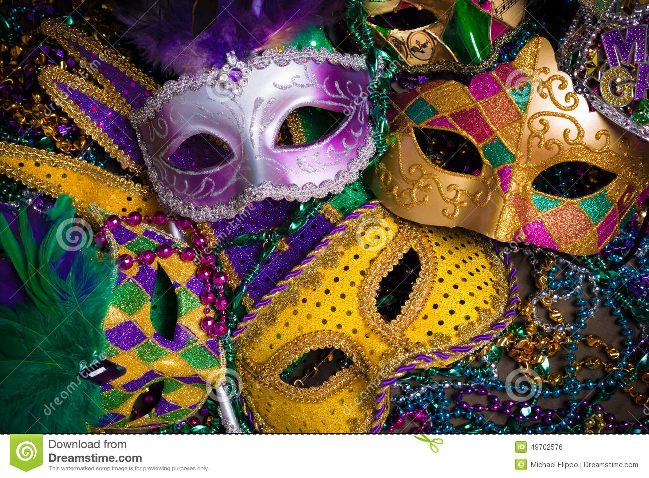 mardi copy an of with mask beads a stock photo group carnival space gras