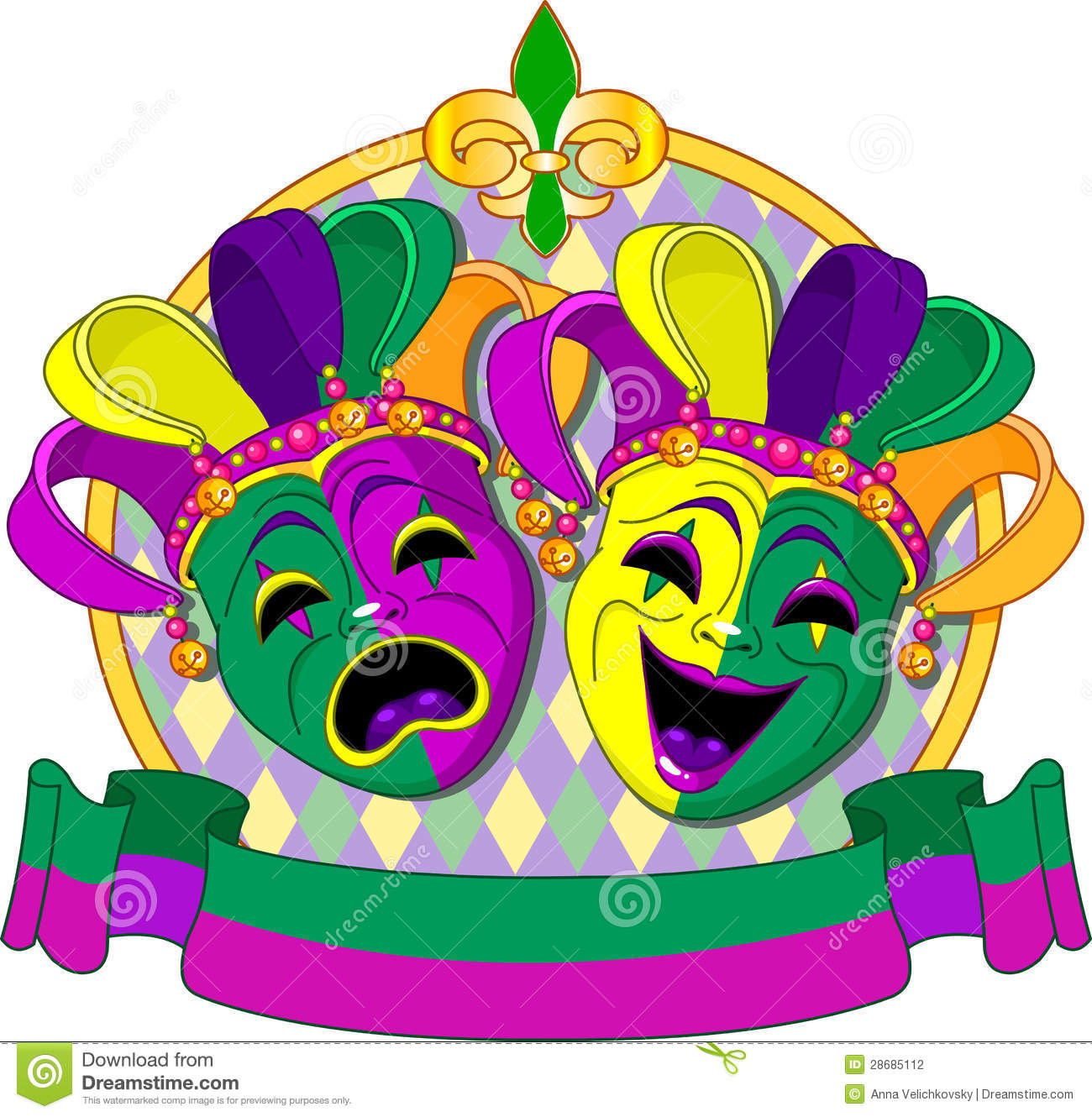 mardi gras masks design stock vector illustration of orleans 28685112