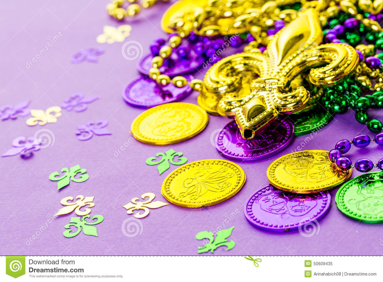 Mardi Gras Stock Image Image Of Yellow Party Neckles