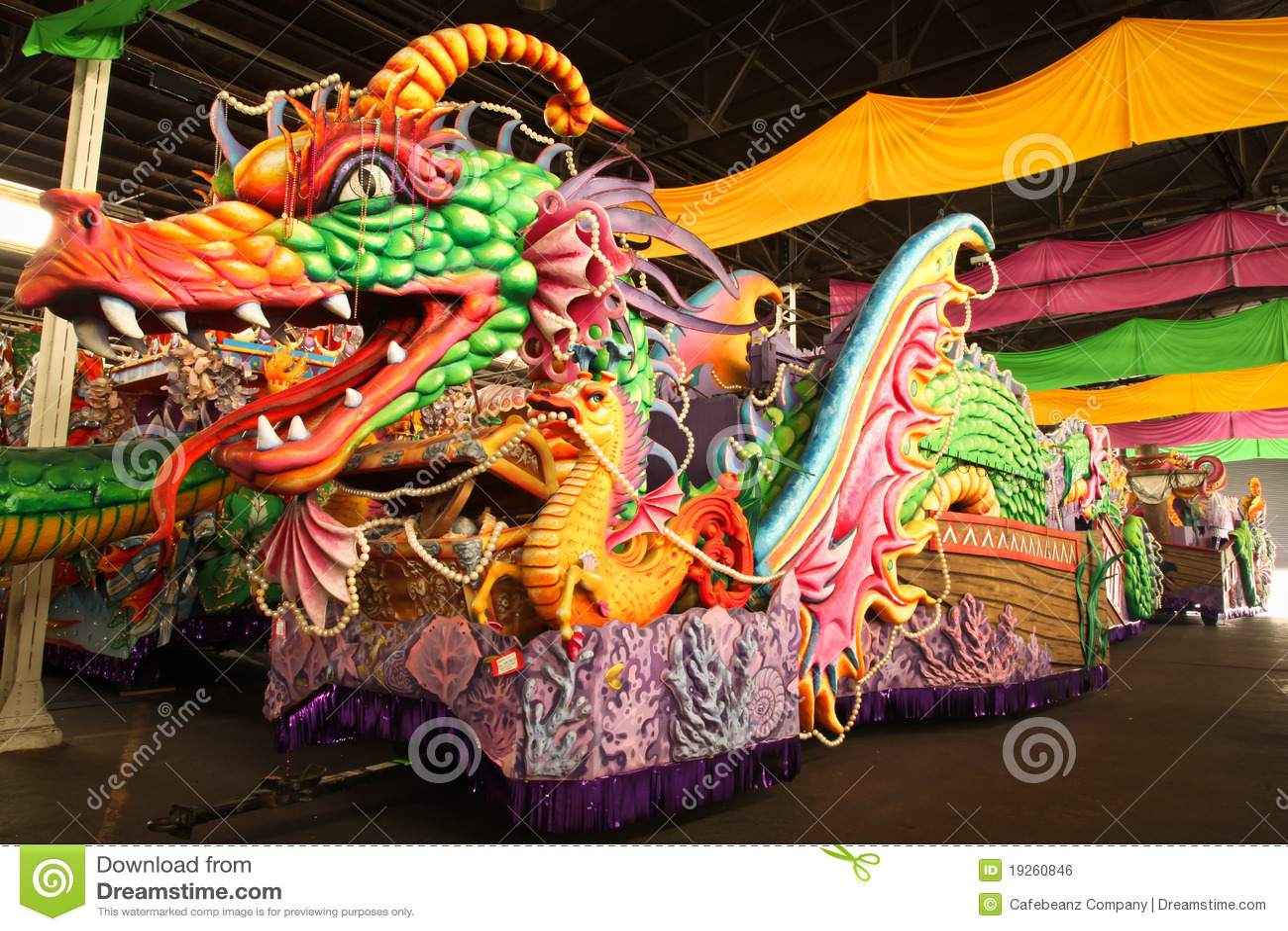 Mardi Gras Parade Float Royalty Free Stock Image Image