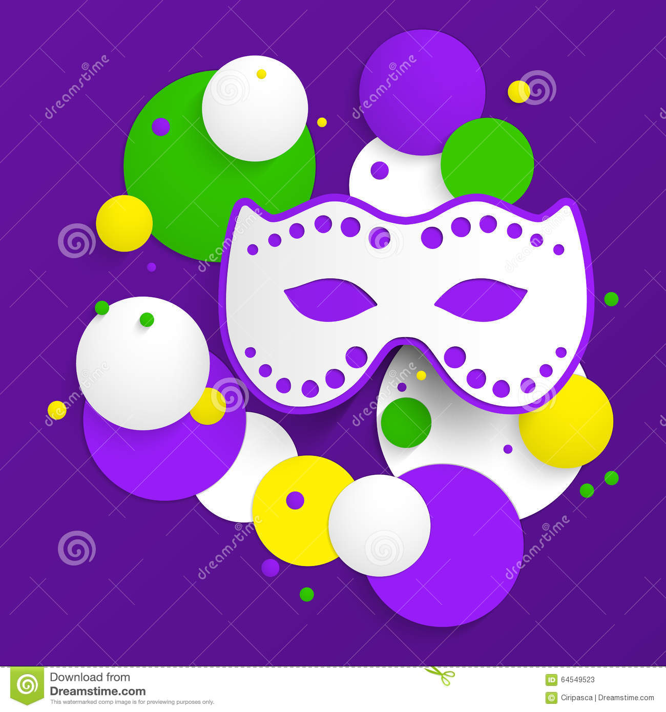 mardi gras party poster design template of poster stock vector