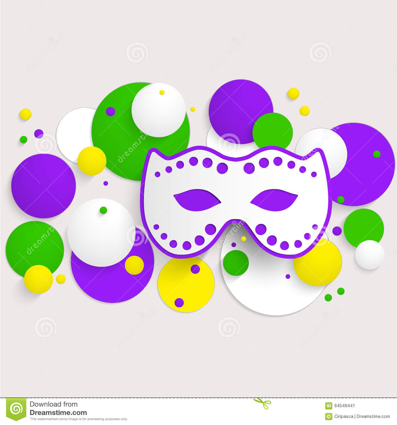 Mardi Gras Party Poster Design. Template Of Poster. Stock Vector ...