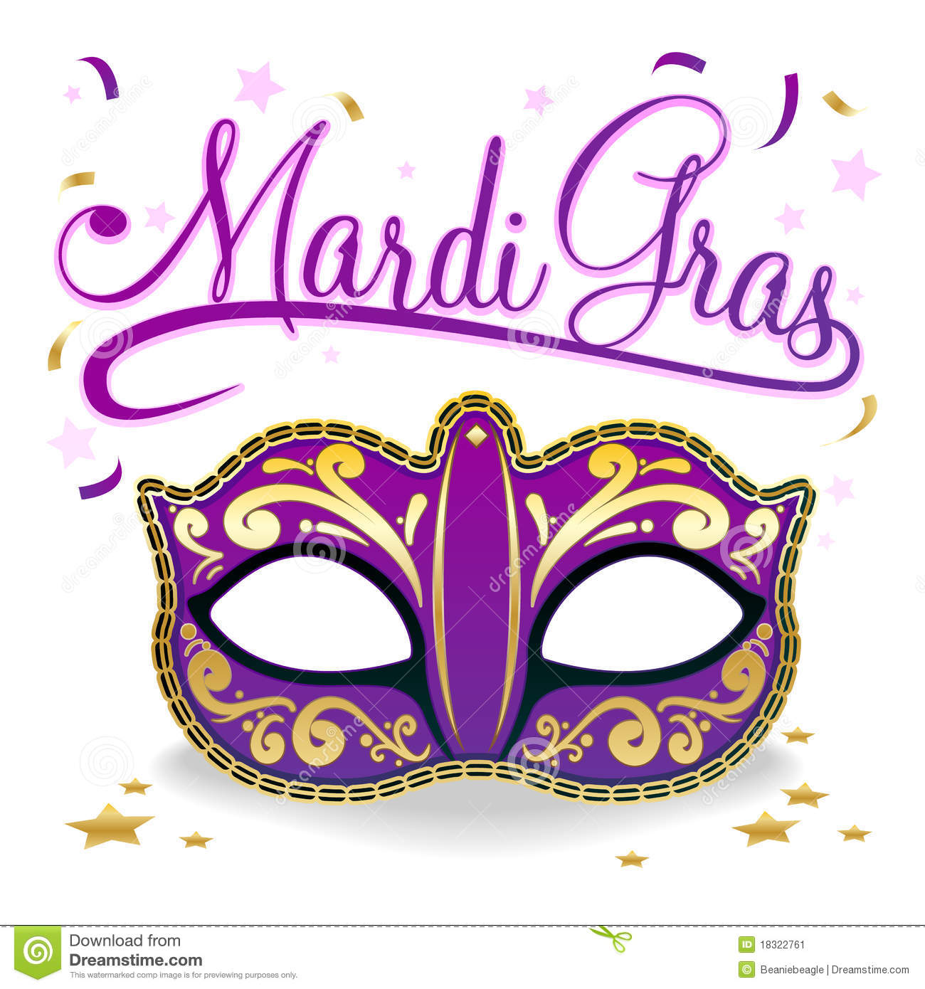 Royalty Free Stock Photo Download Mardi Gras Poster Vector