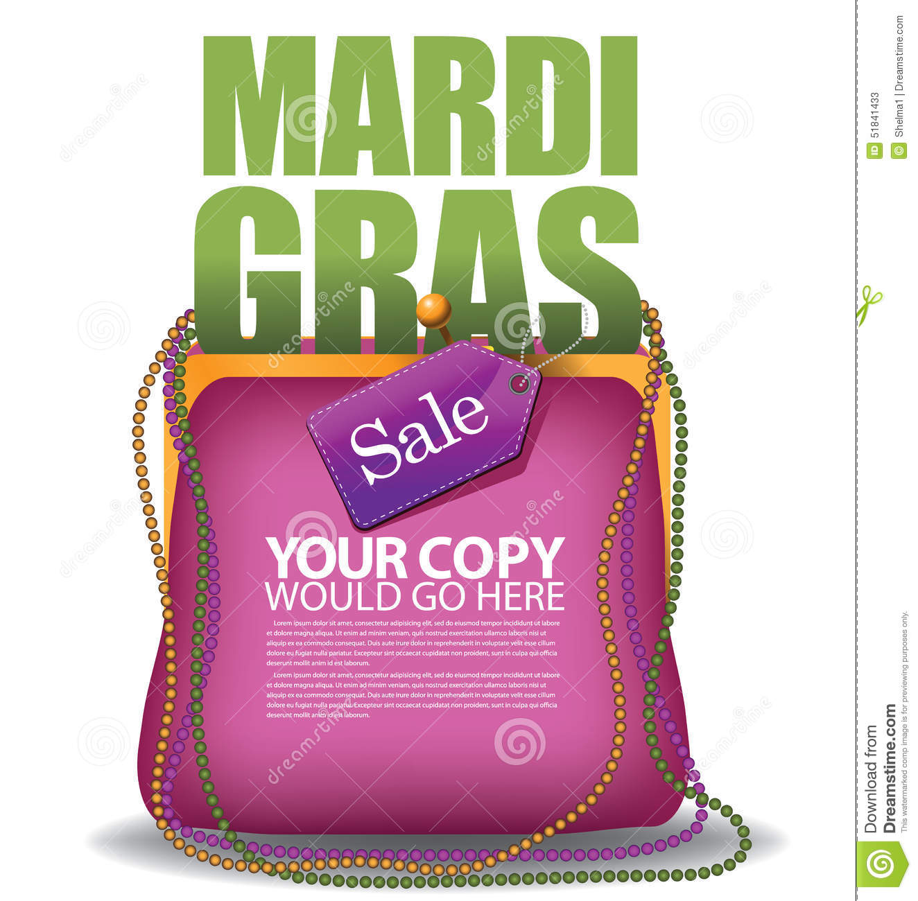 f9ec8ca318 Mardi Gras purse background EPS 10 vector royalty free stock illustration  for greeting card