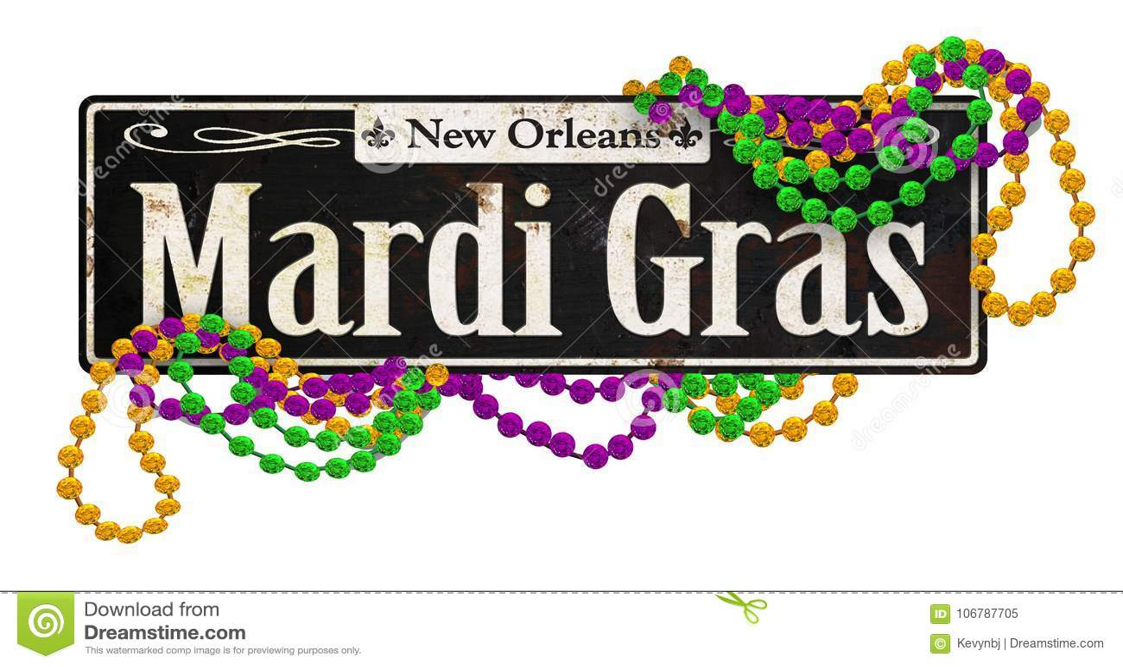 Mardi Gras Rustic Vintage Street undertecknar Retro