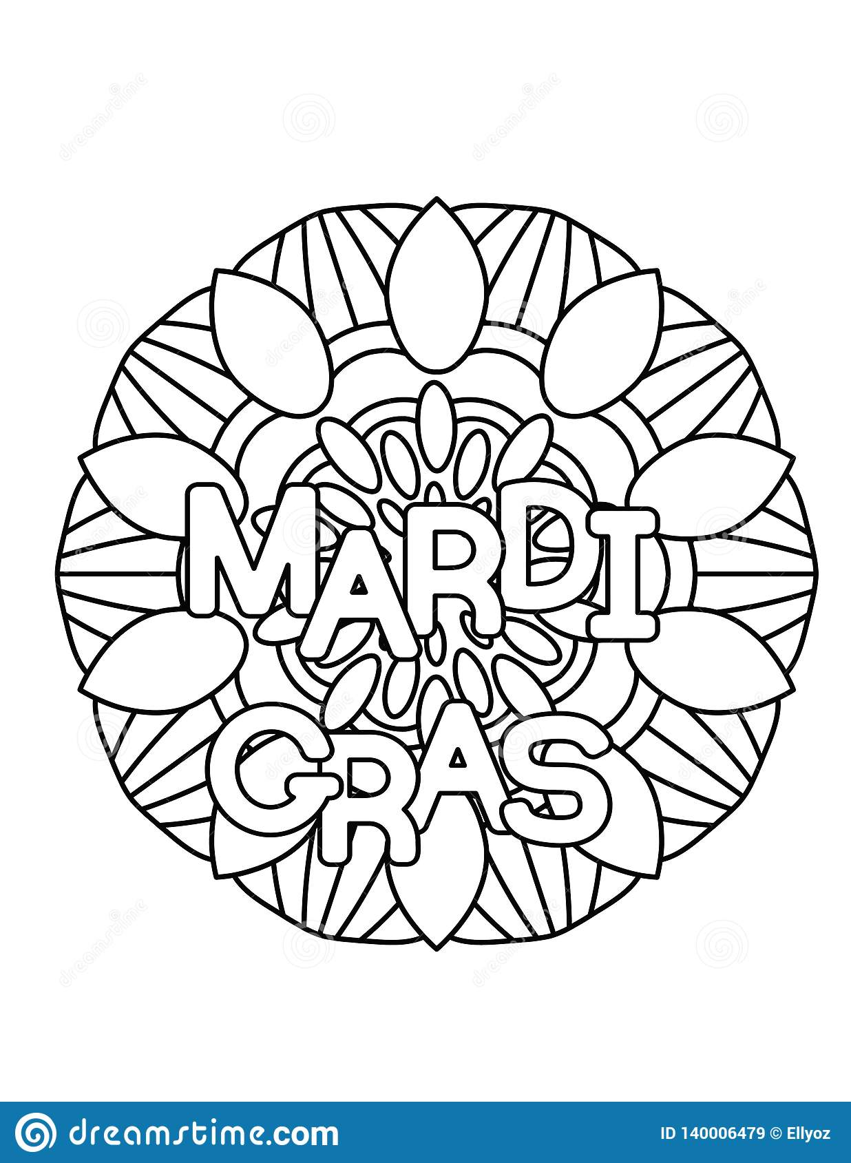 Printable Mardi Gras Coloring Pages For Kids | 1689x1236