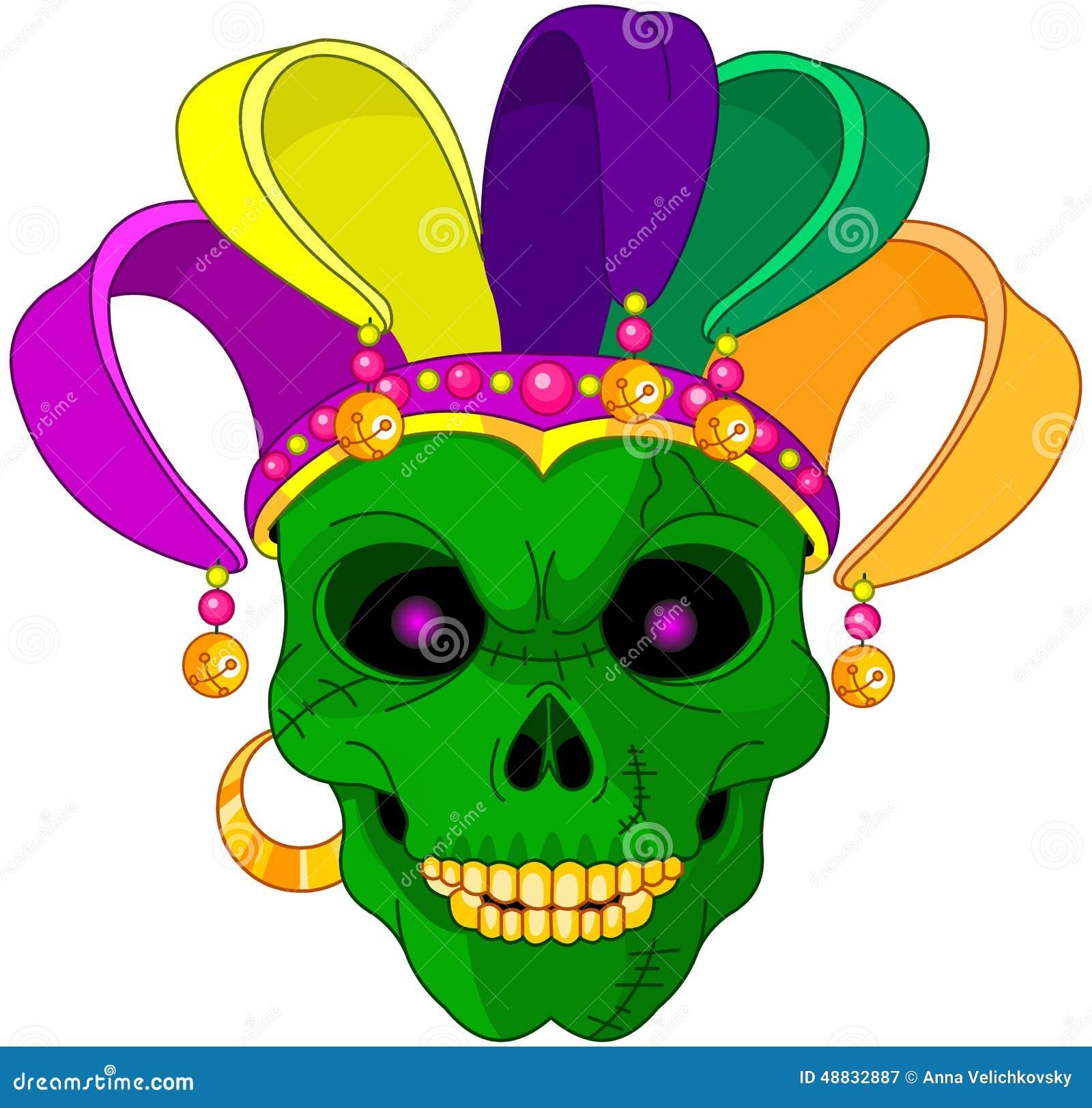 Mardi Gras Skull Stock Vector Illustration Of Graphics 48832887