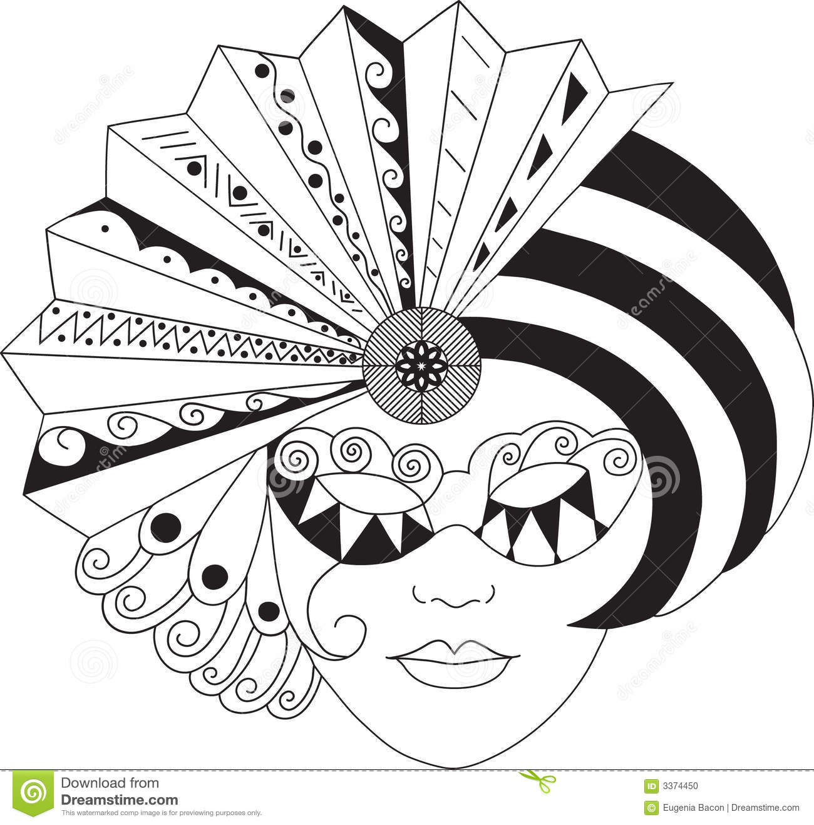 Graphic vector mask stock vector. Illustration of mardigras - 4255697