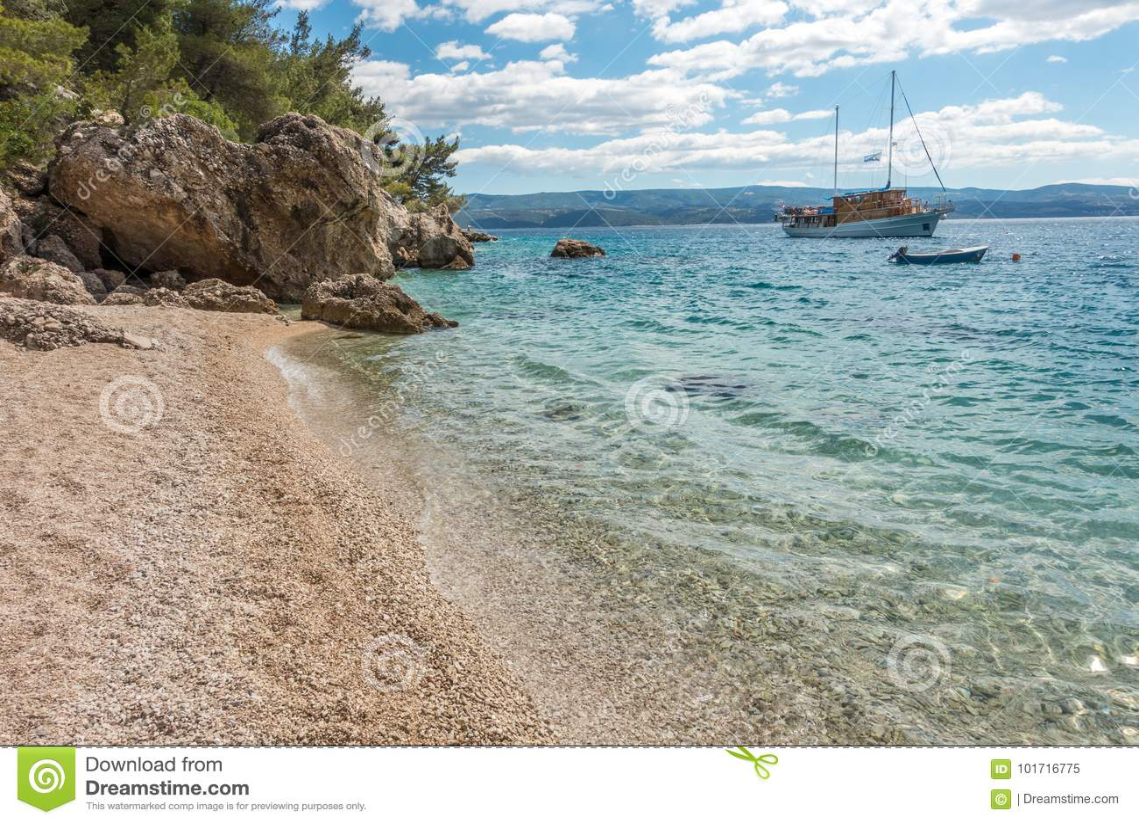Mare adriatico nel Croatia
