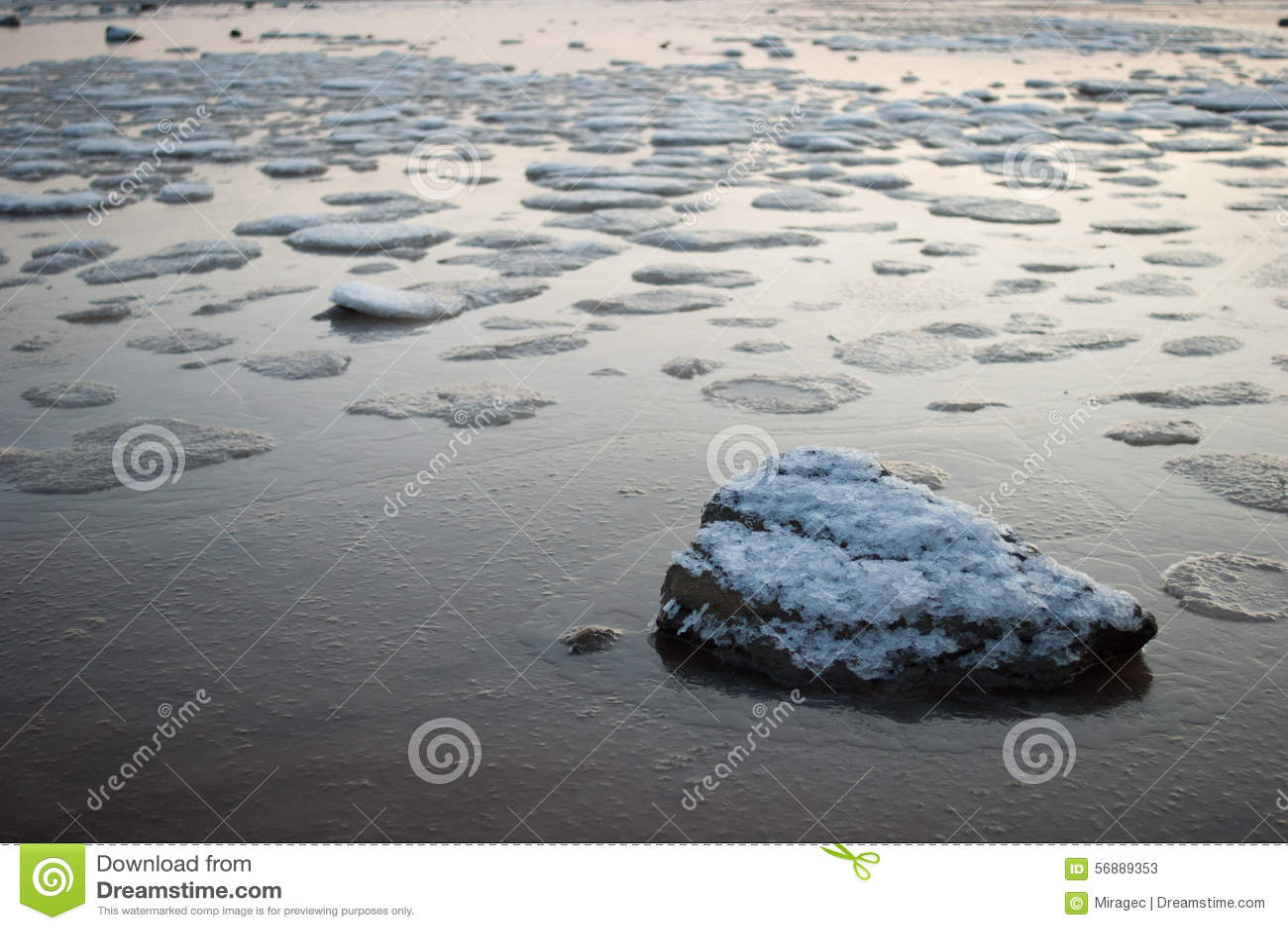 Mare congelato di Qingdao