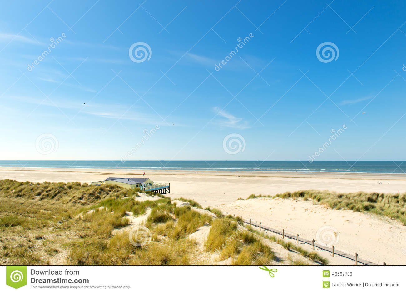 mare del nord dell 39 olandese della spiaggia immagine stock