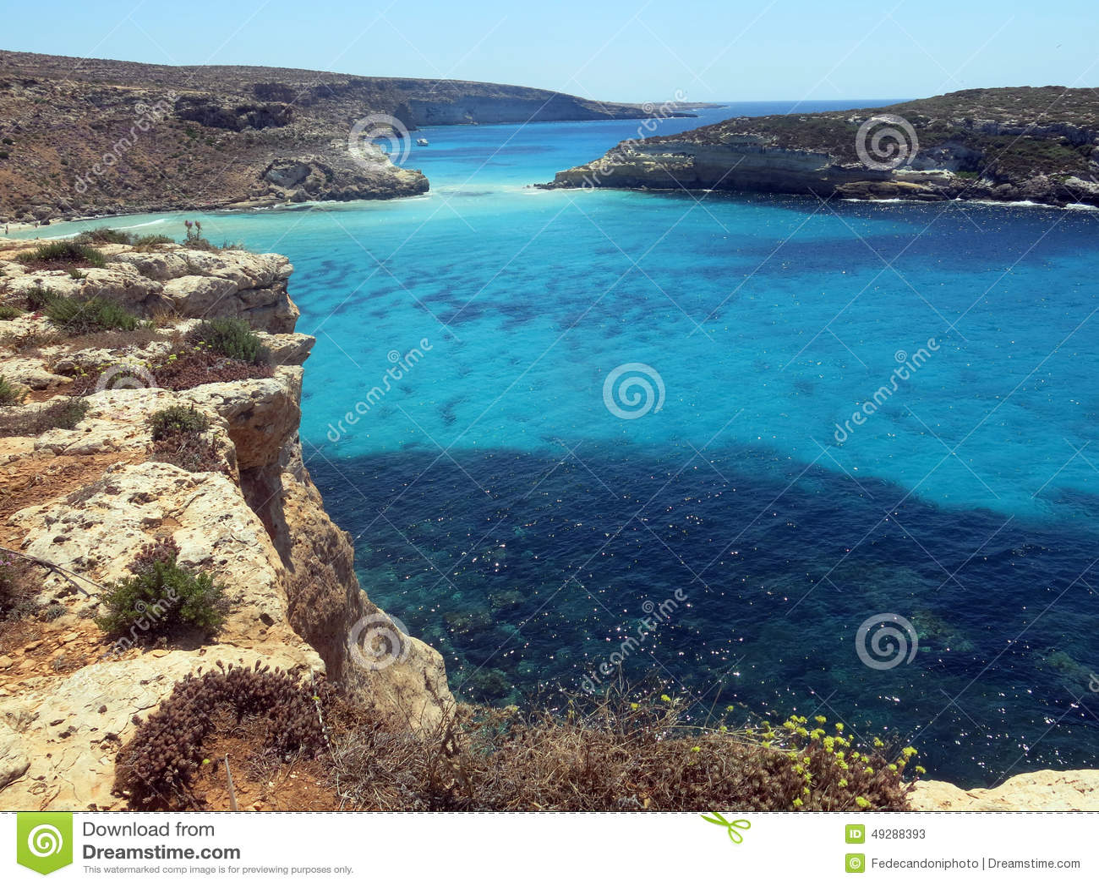 Mare dell isola di LAMPEDUSA in Italia