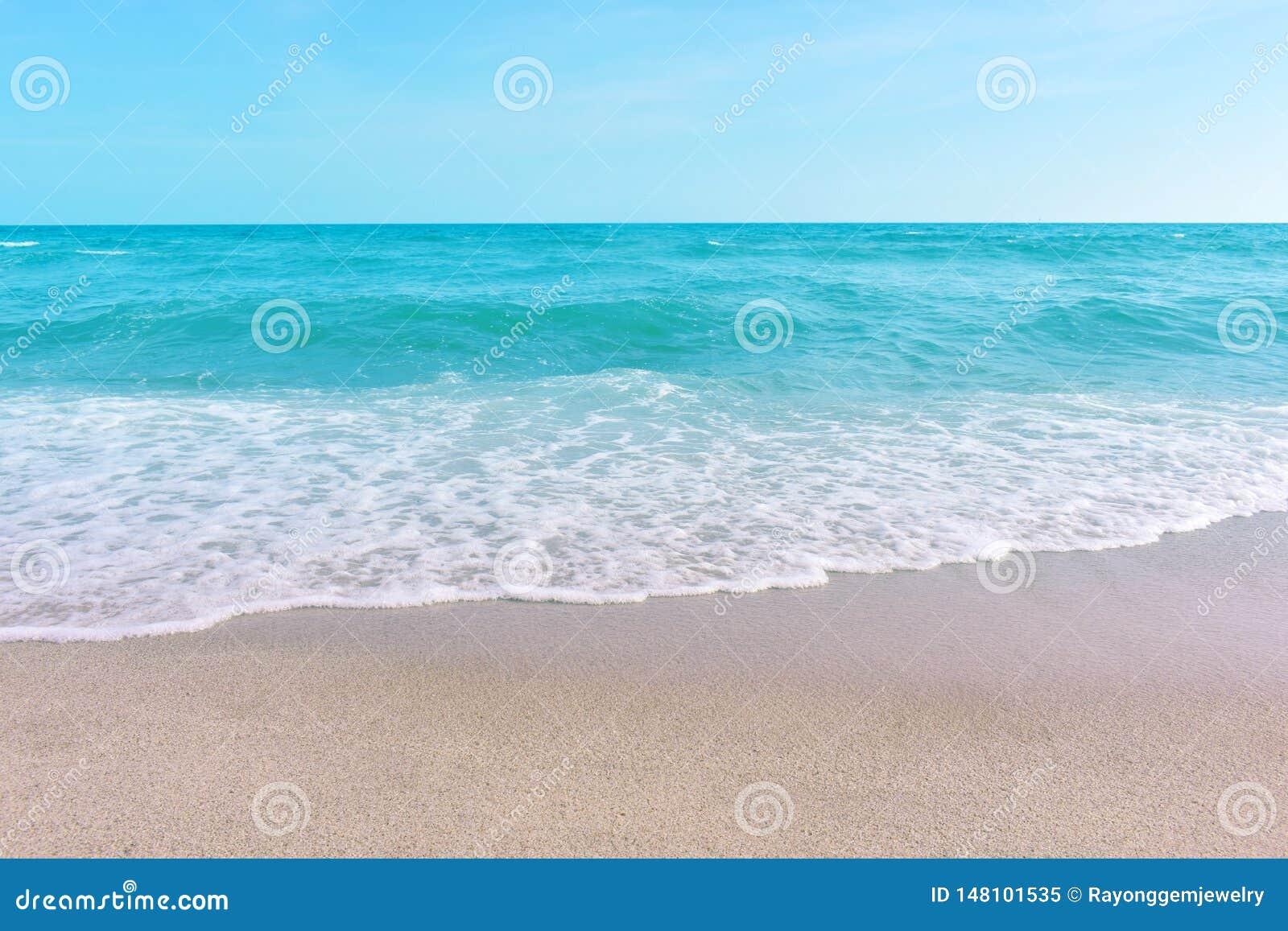 Mare e sabbia e bello cielo un giorno di rilassamento, brezza fresca