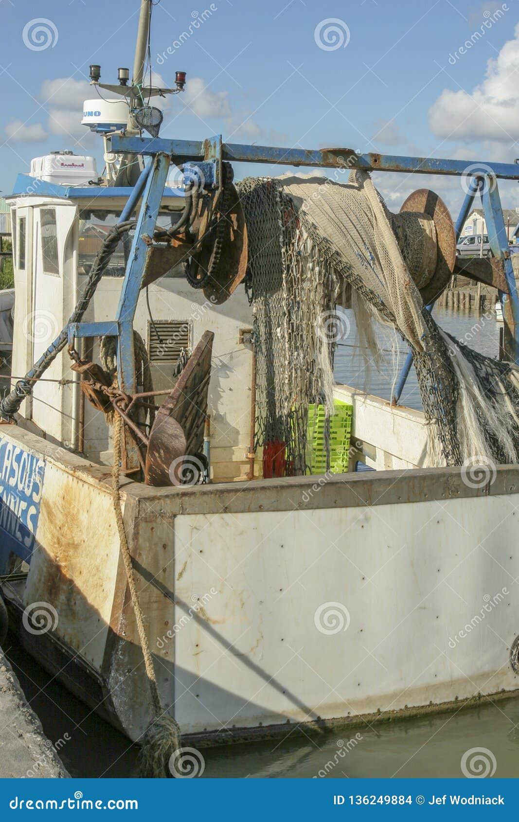 Marennes France 12-13-2018 Port traditionnel pour le port de farminTraditional d huître pour l agriculture d huître de Marennes O