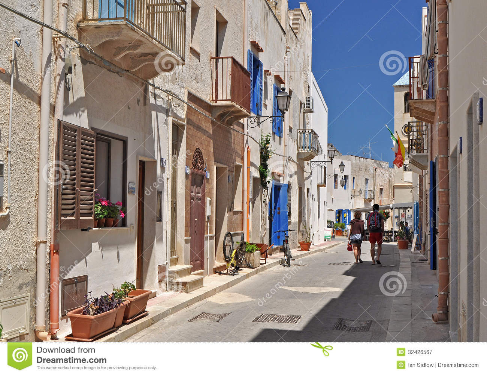 Marettimo Egadi öar av kusten av Sicilien