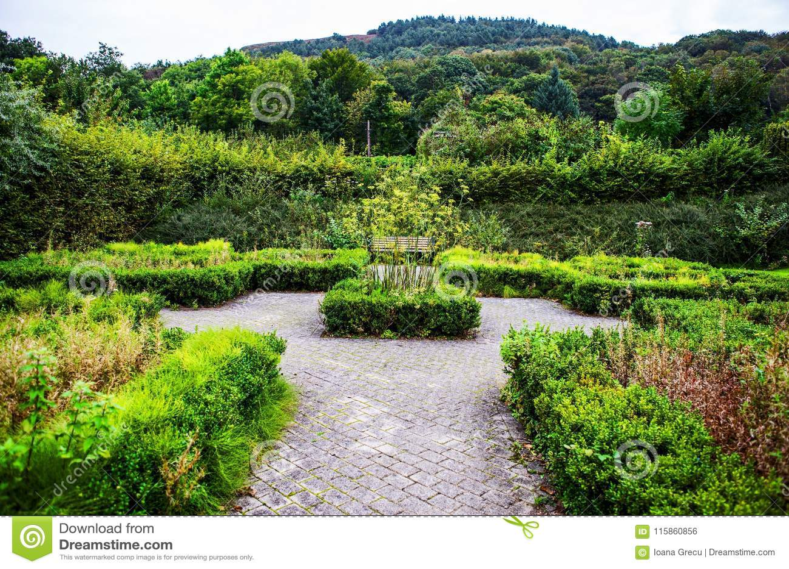 Margam Castle gardens, Whales