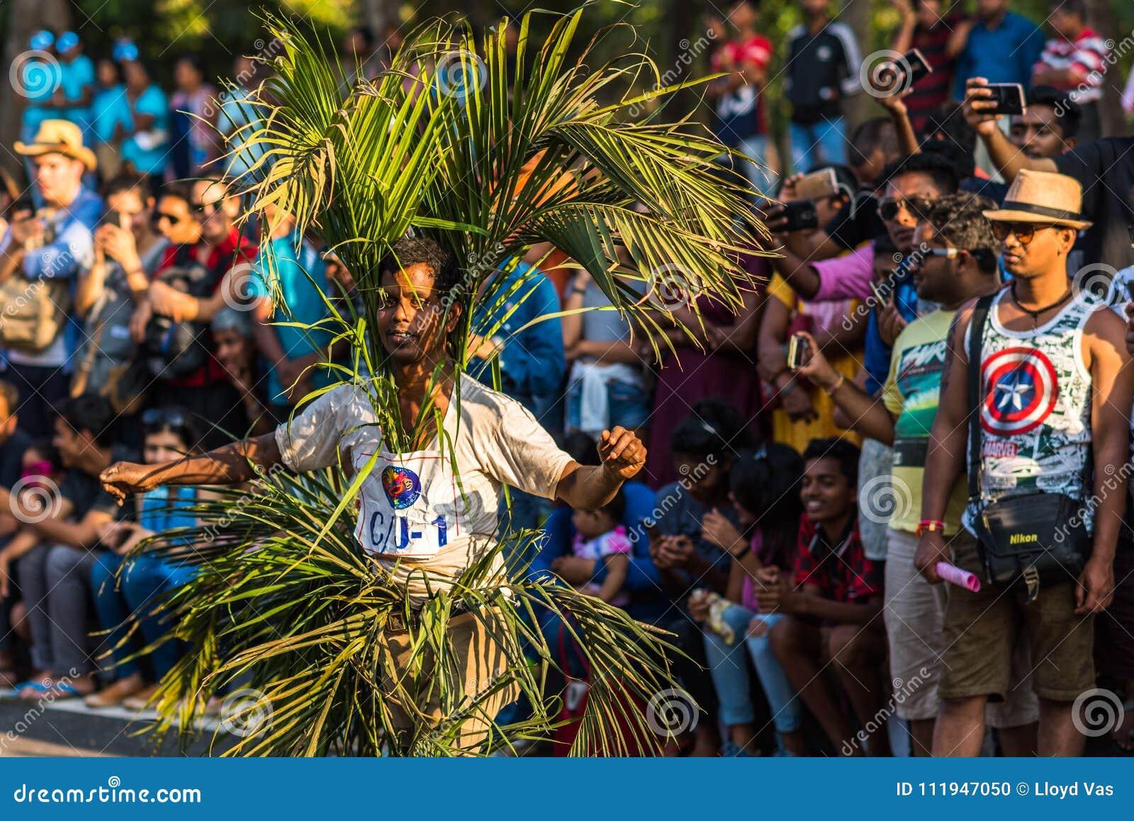 Margao, Goa/Indien 12. Februar 2018: Karnevalsfeiern in Goa, Indien