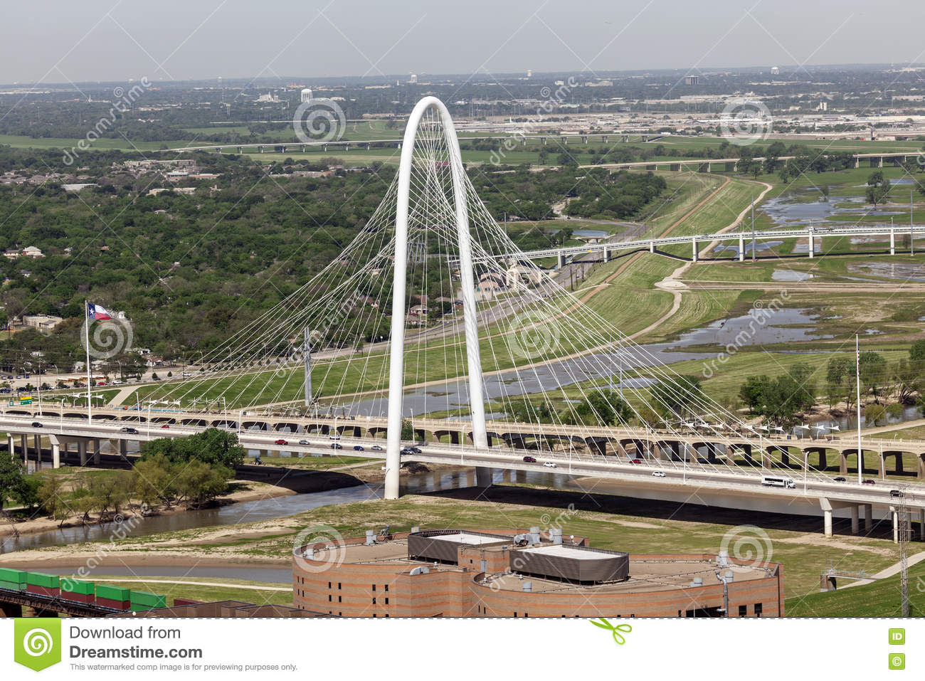 Margaret Hunt Bridge en Dallas, Estados Unidos