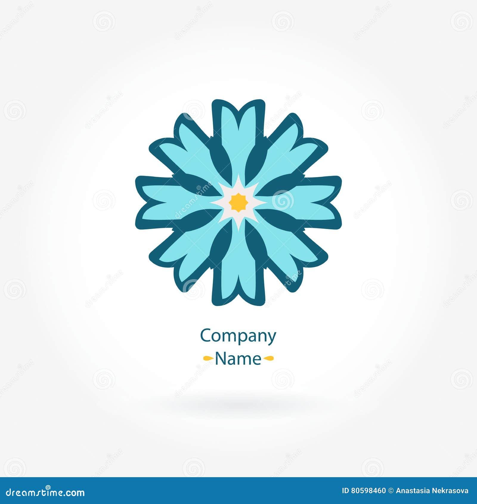 Margarida do logotipo Logotipo estilizado da flor para o boutique Logotipo geométrico simples mandala