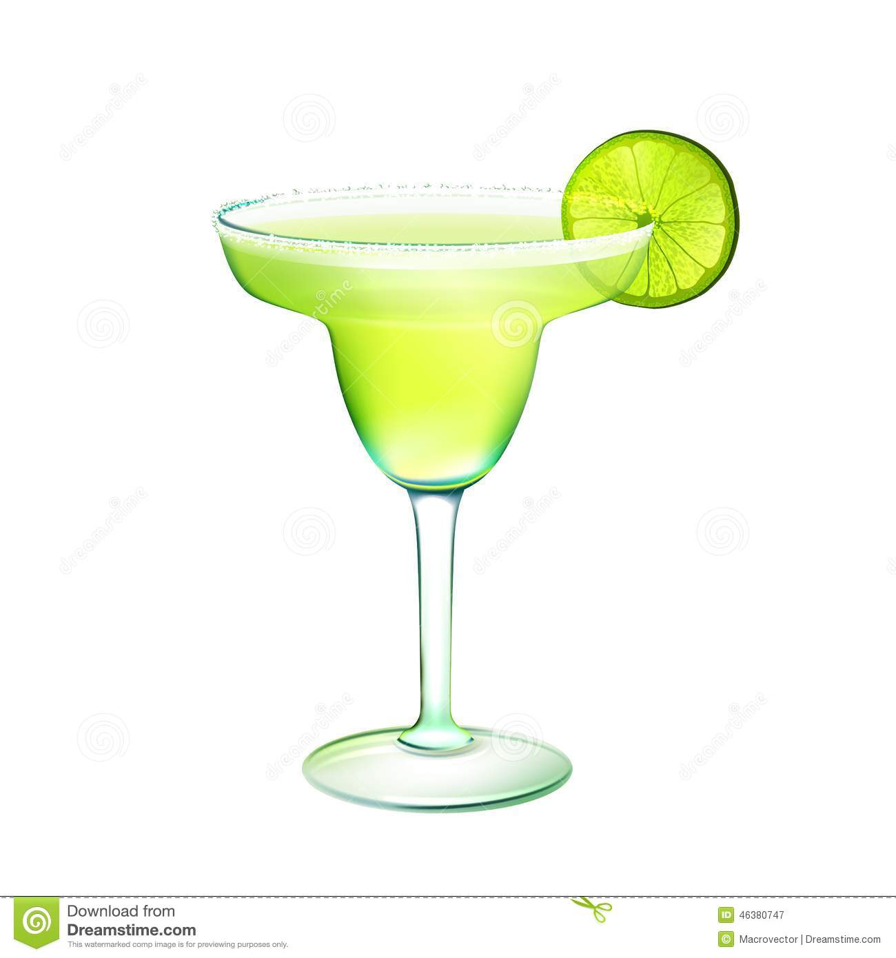 Margarita cocktail realistic stock vector illustration for Cocktail margarita