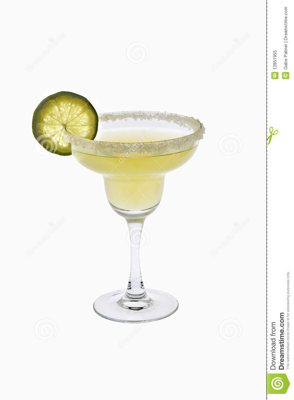 Margarita cocktail on a white background stock image for Cocktail margarita