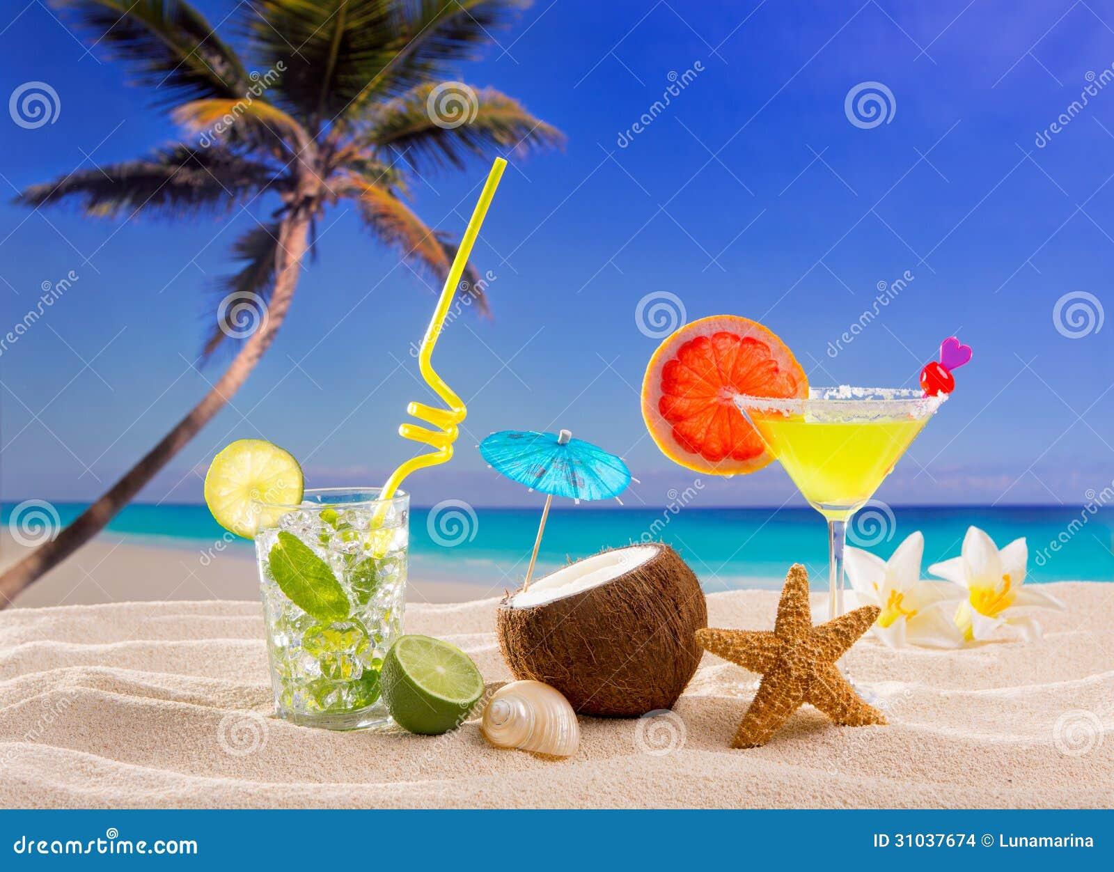 Margarita tropicale caraibica di mojito dei cocktail della for Disegni di casa sulla spiaggia tropicale