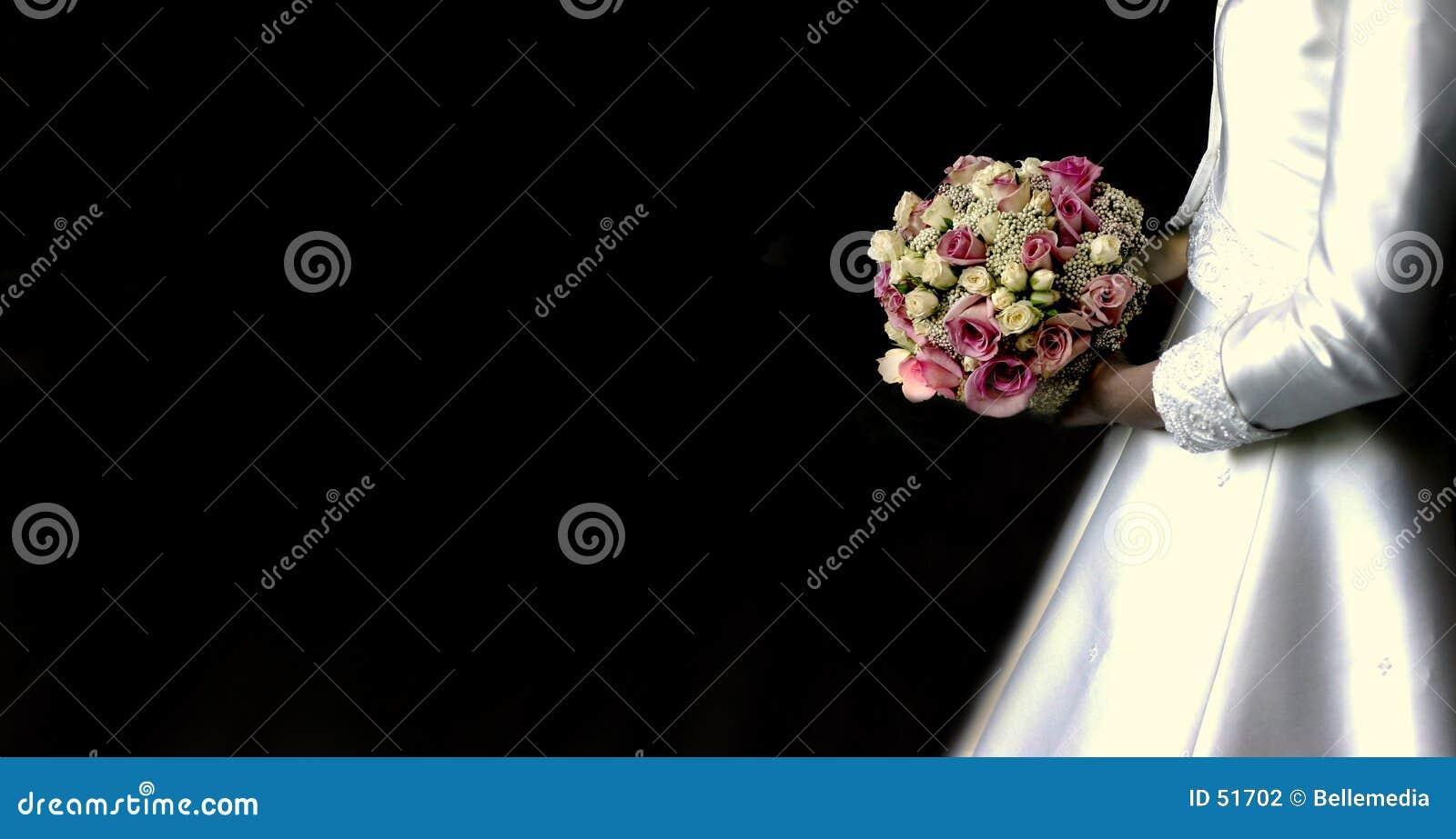 Download Mariée avec le bouquet photo stock. Image du mains, nouveau - 51702