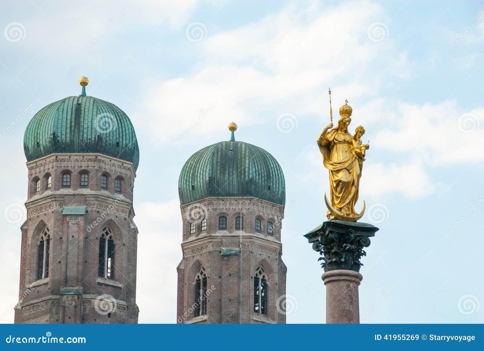 Mariańska kolumna, Marienplatz, Monachium, Niemcy