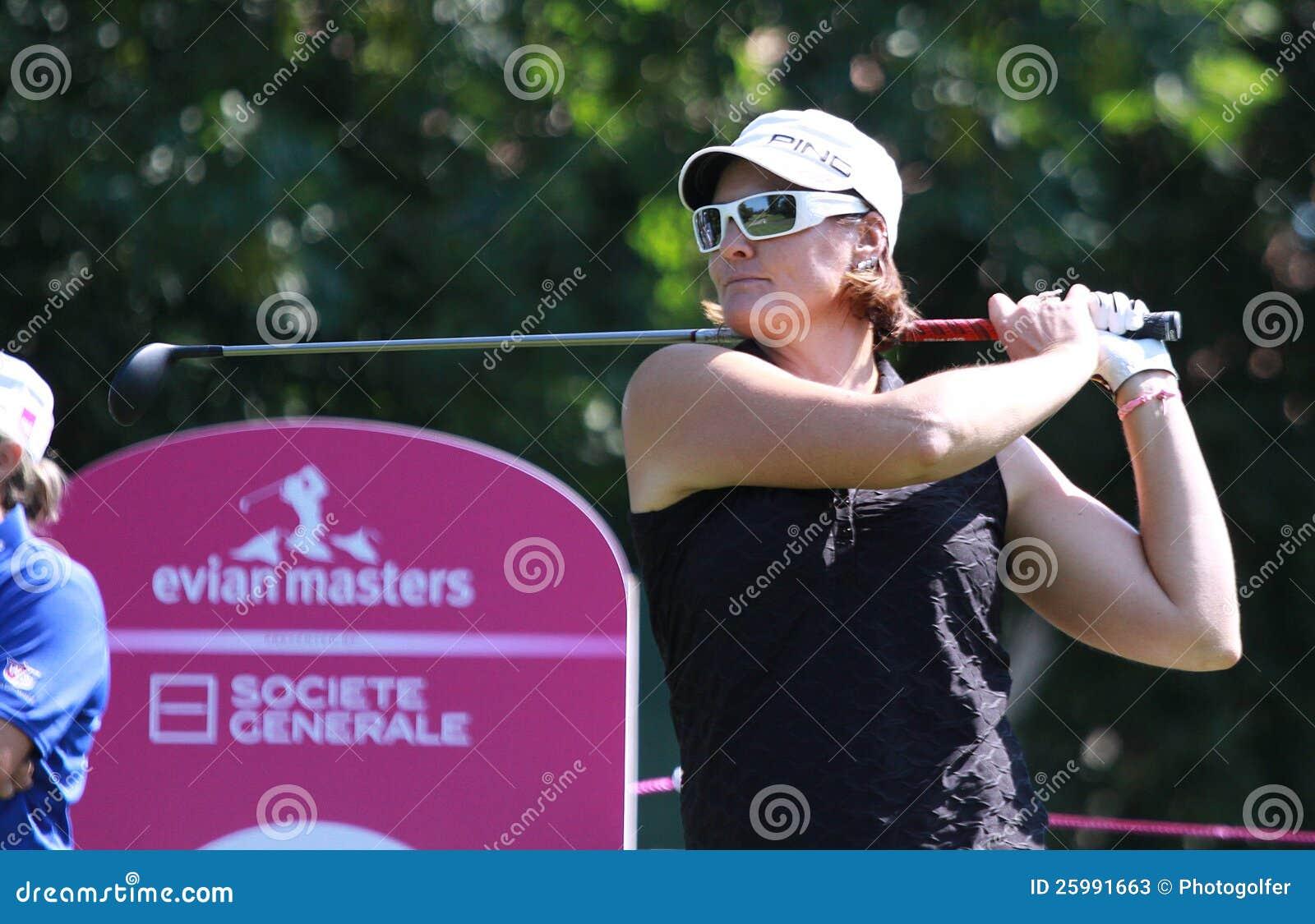 Maria Hjort på golf Evian styrer 2012