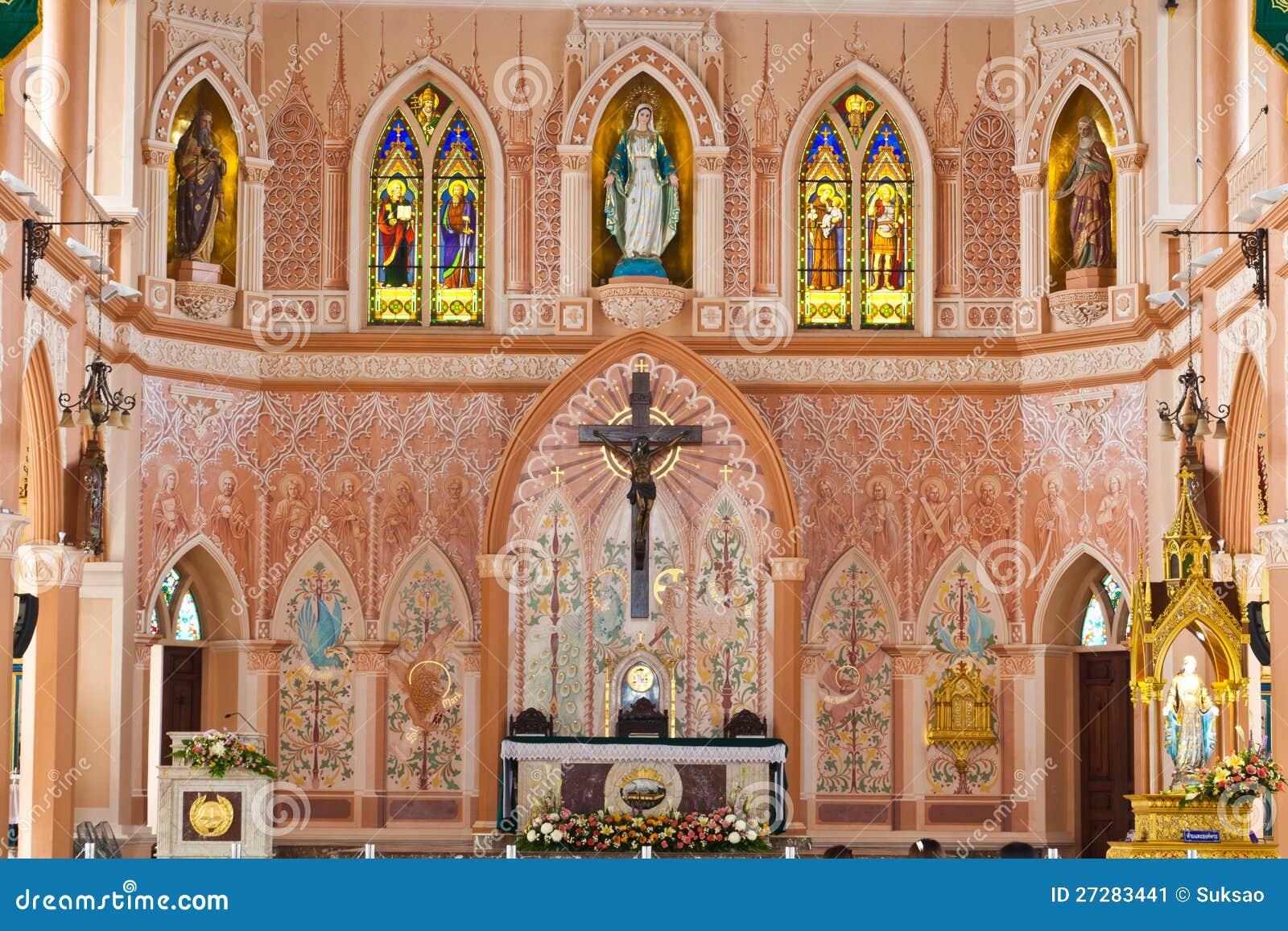 Maria och Jesus i kyrka