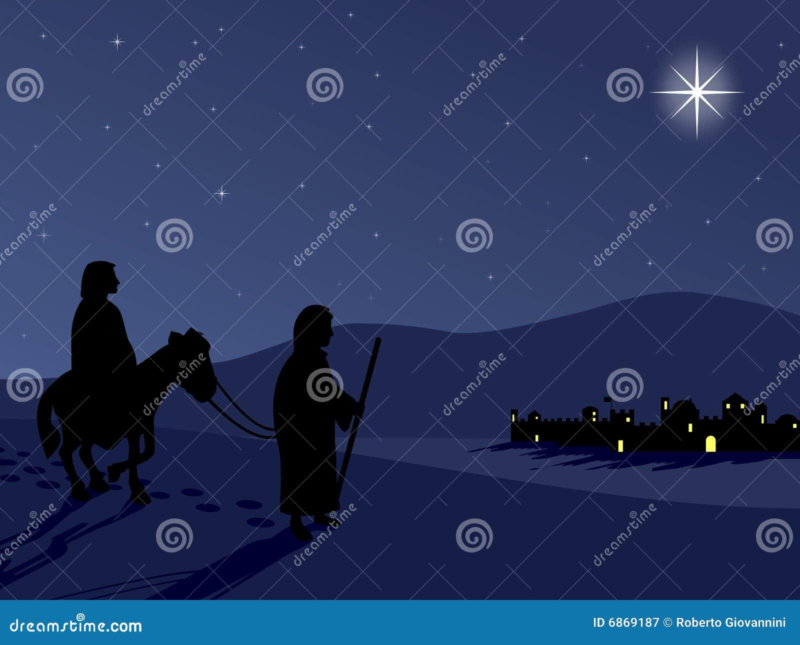 Maria y José por Bethlehem