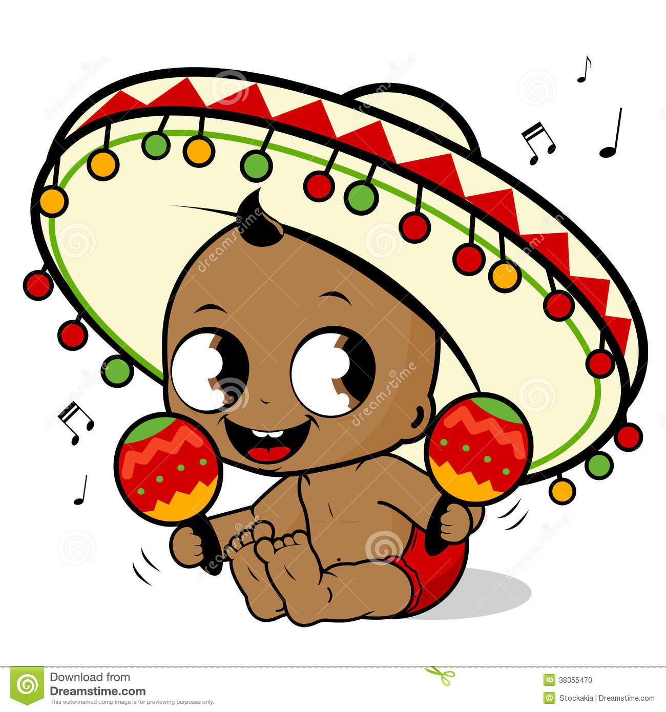 Mariachi Baby Boy Playing The Maracas Stock Photo - Image: 38355470