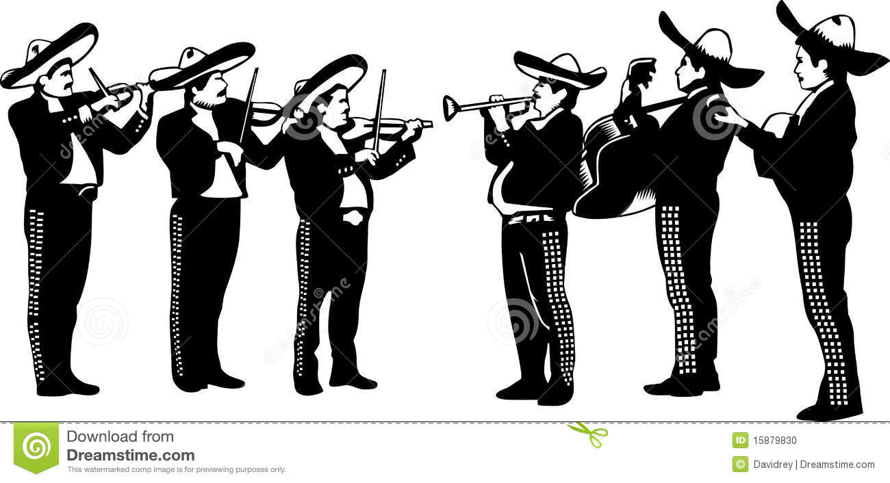 Mariachi Cartoon Playing Trumpet Stock Photo - Image: 15879830