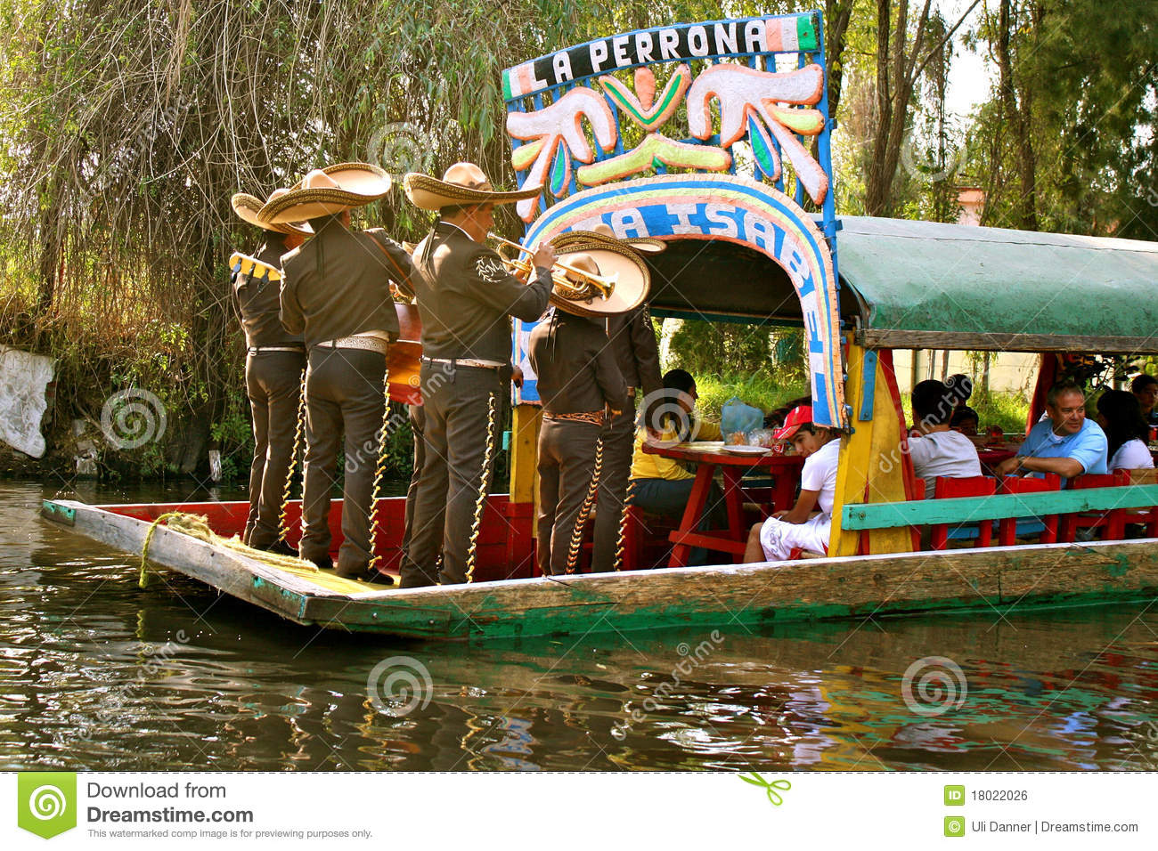 Mariachis On Boat In Xochimilco, Mexico Editorial Photo - Image: 18022026