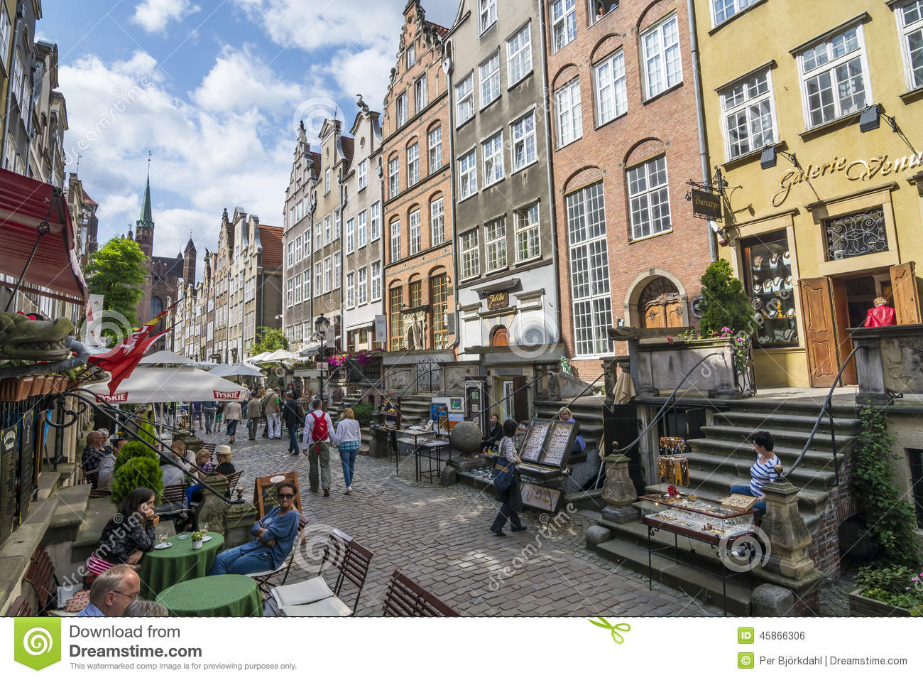 Mariacka Street Amber Shopping Gdansk Editorial Photo Image 45866306
