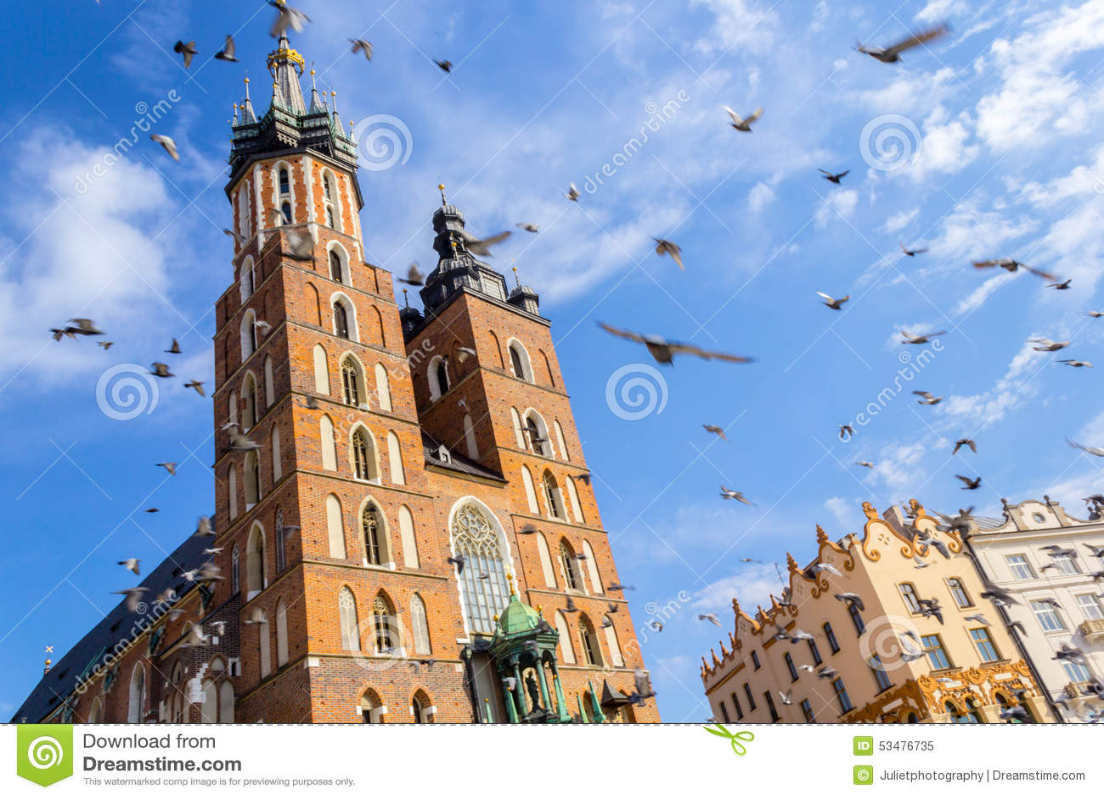 Mariacki kościół, Krakow, Polska, Europa