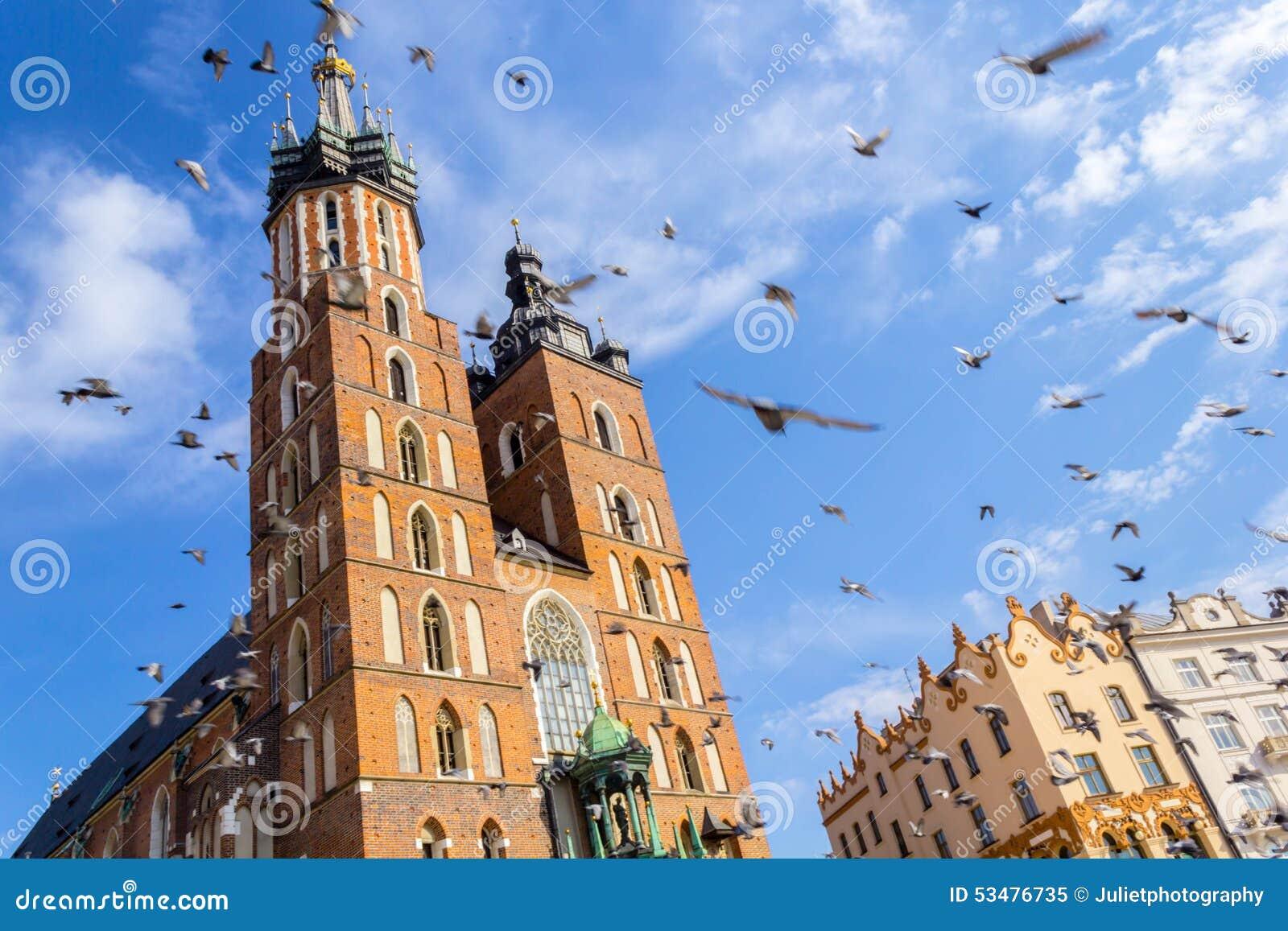 Mariackikerk, Krakau, Polen, Europa