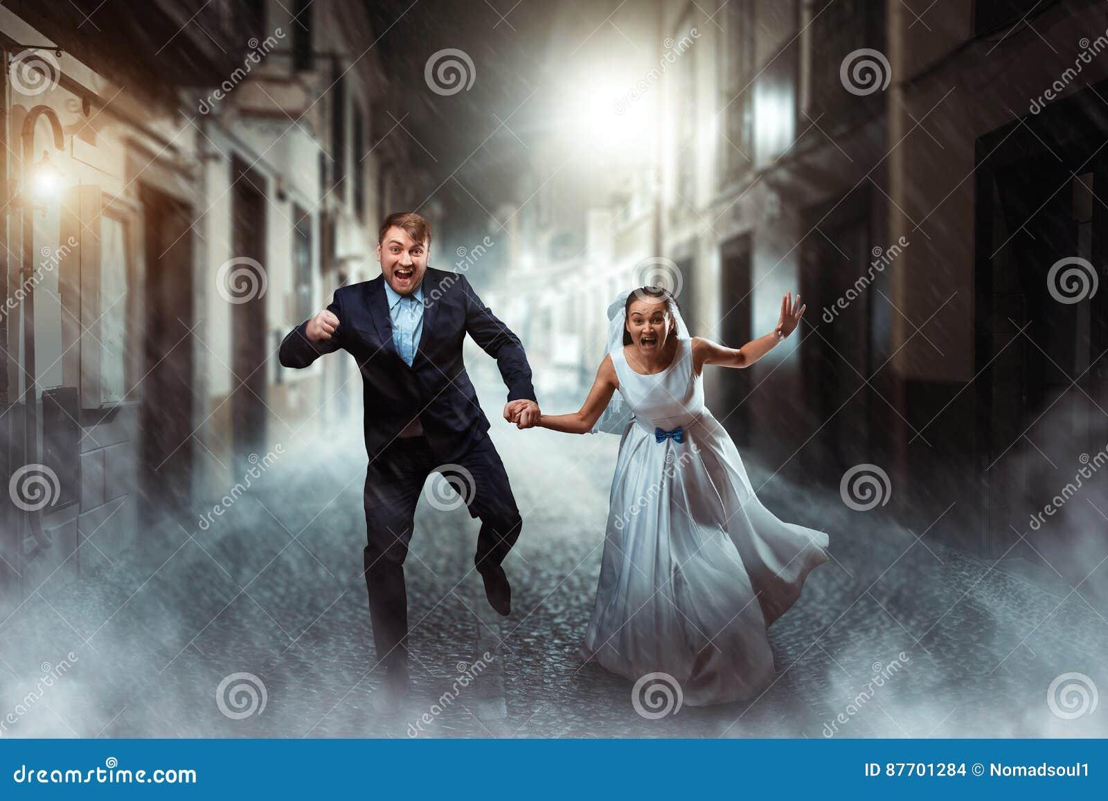 Mariage de couples d amour, séance photos de nuit