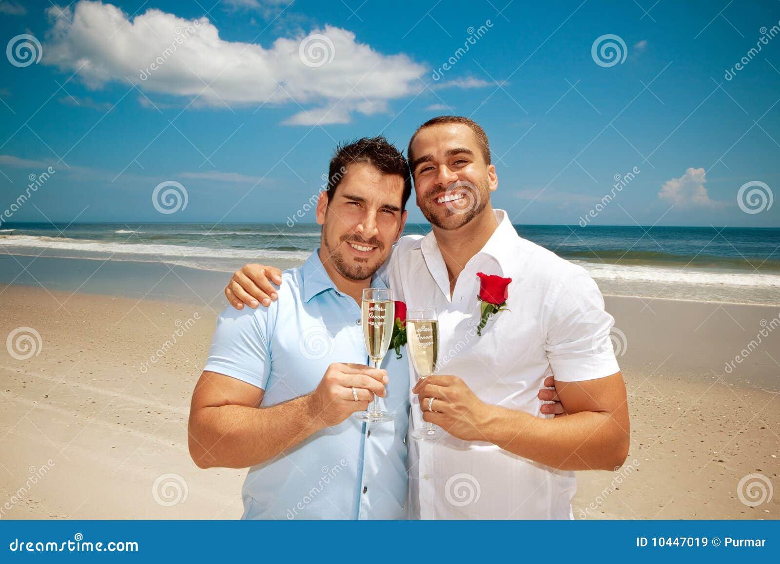 mariage homosexuel sur une plage images libres de droits image 10447019. Black Bedroom Furniture Sets. Home Design Ideas