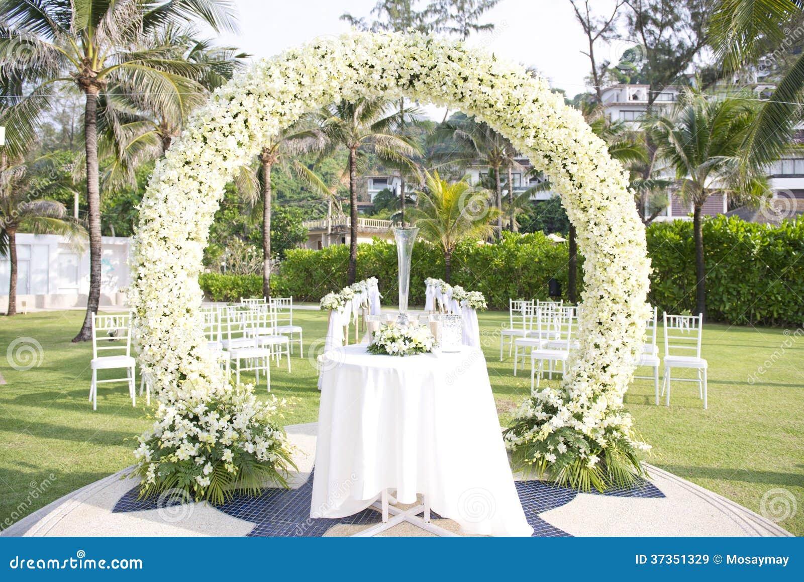 Mariage install dans le jardin l 39 int rieur de la plage for Dans le jardin