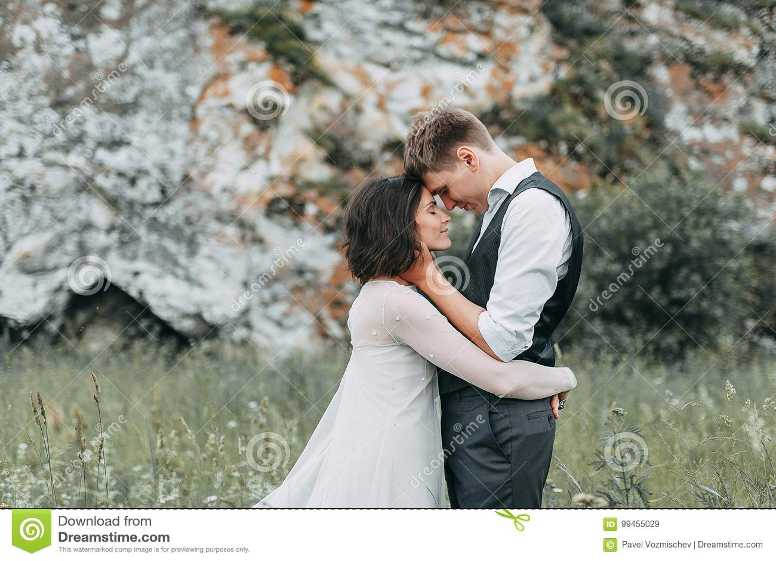 Mariage rêveur en montagnes