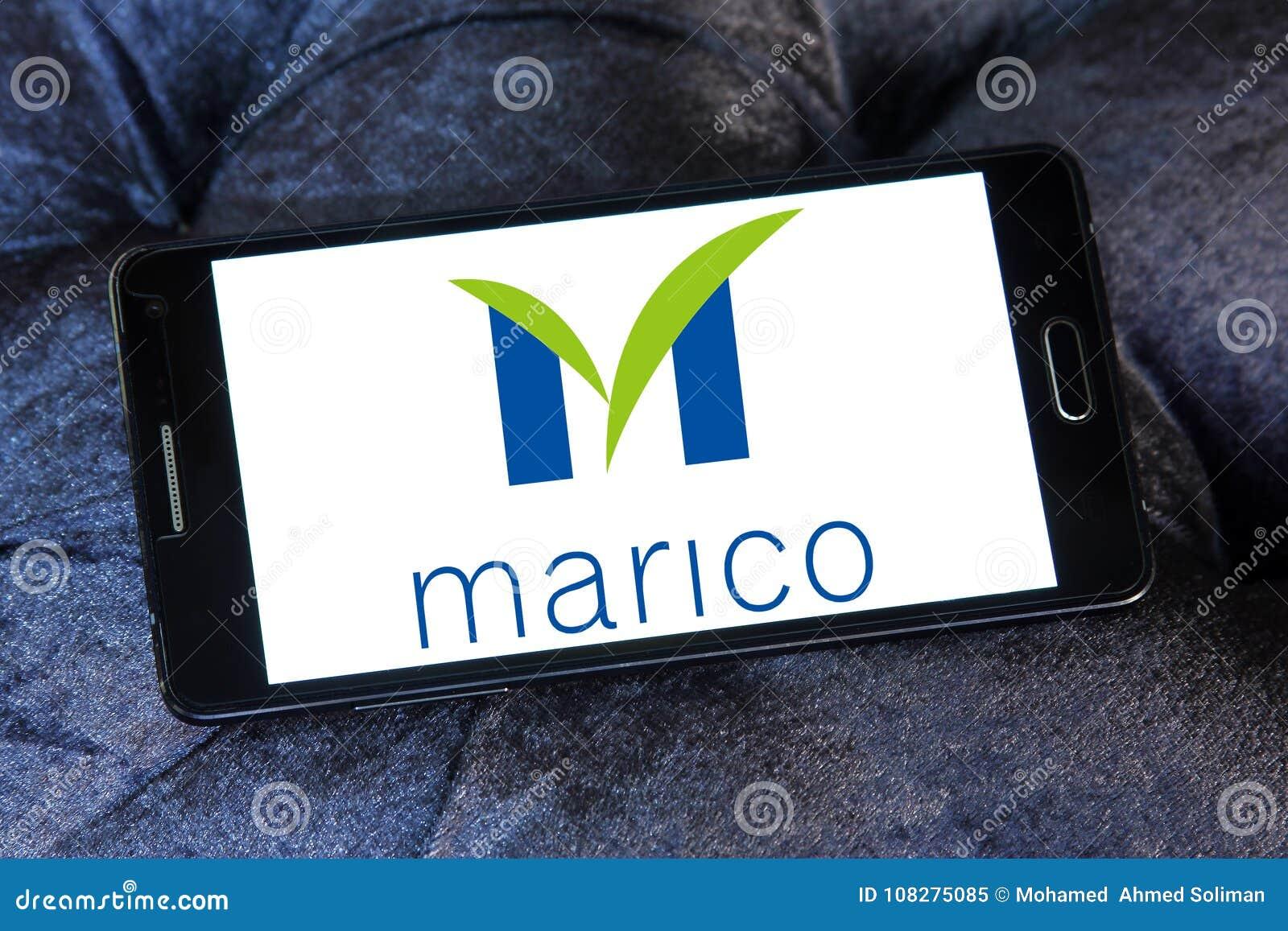 Marico goods company logo editorial image  Image of logotype