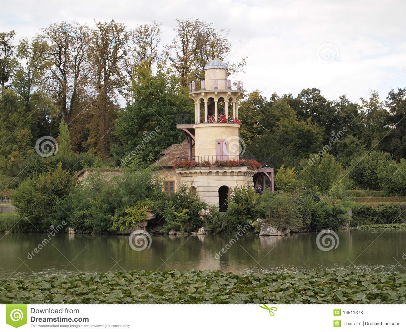 Marie antoinette s cottage in versailles royalty free stock photos