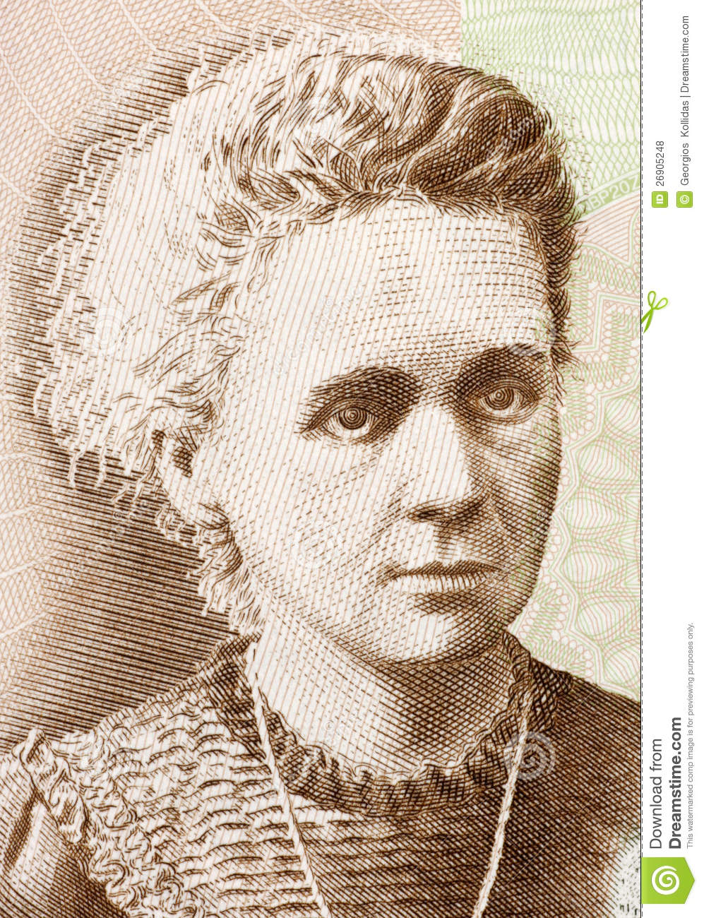 Marie Curie (1867-1934) on 20 Zlotych 2011 Banknote from Poland ...